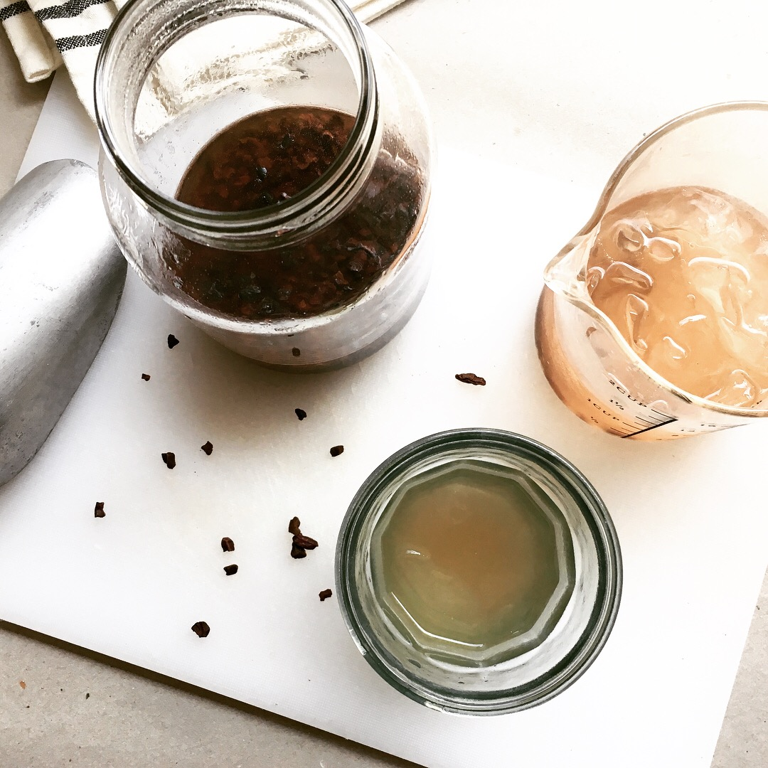flash-brewed drinking chocolate - it's cold, but not cold brew