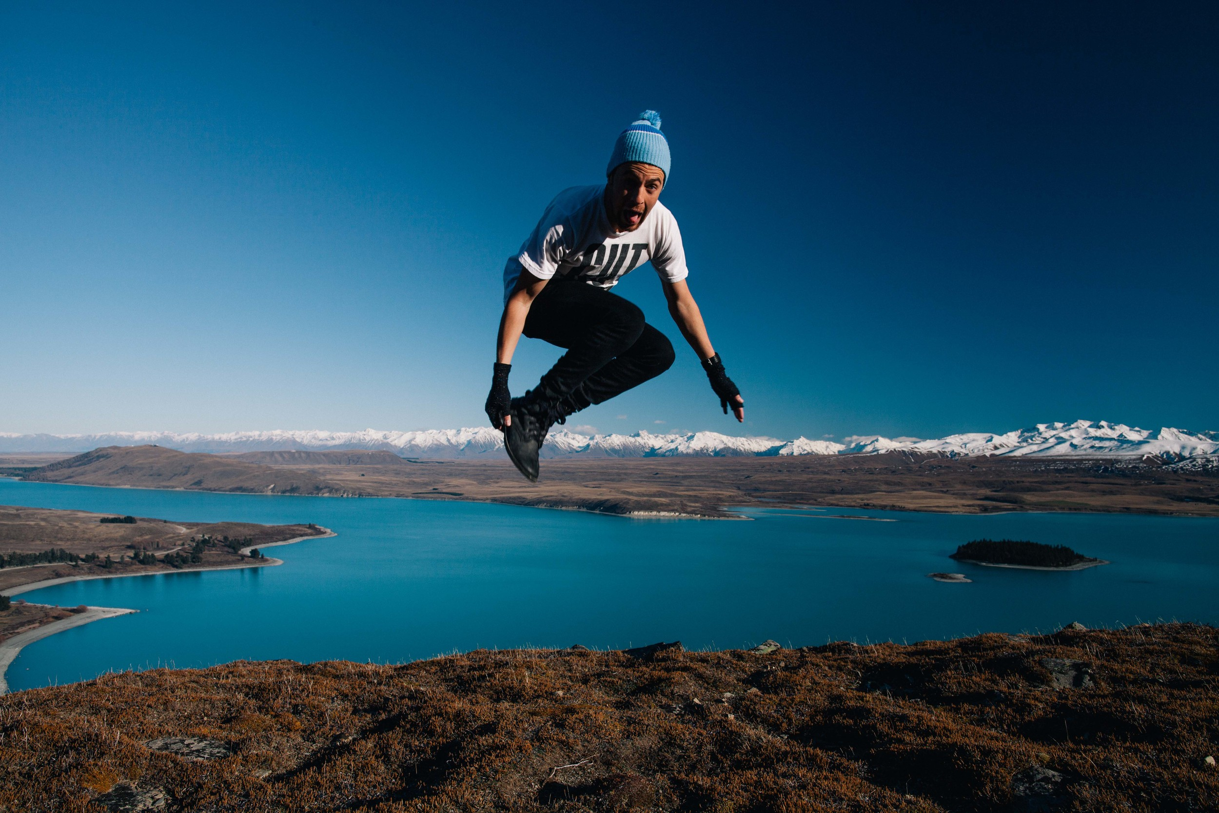 You'd jump for joy too if you'd just finished completing your website.