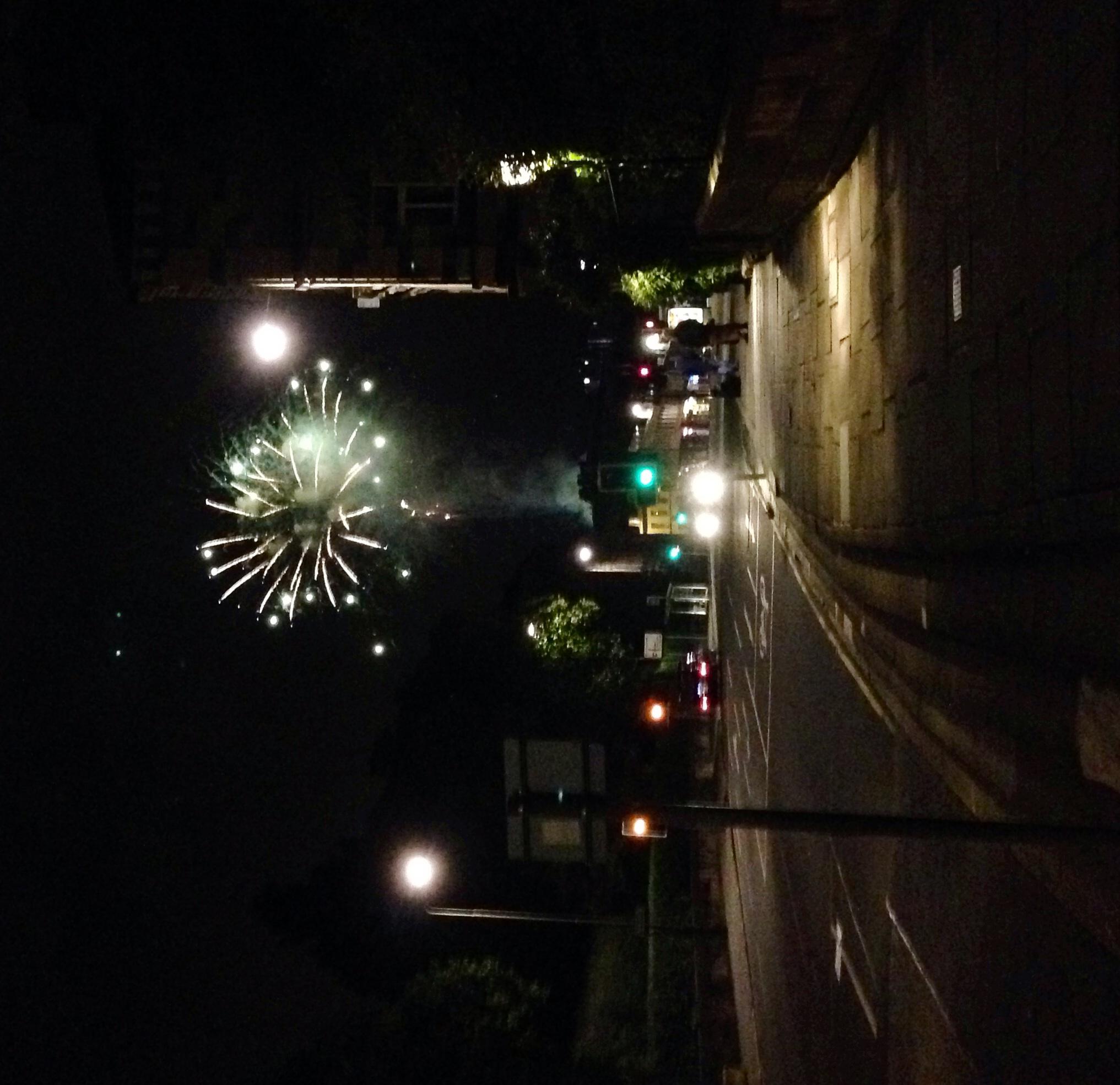Fireworks from Edinburgh castle.
