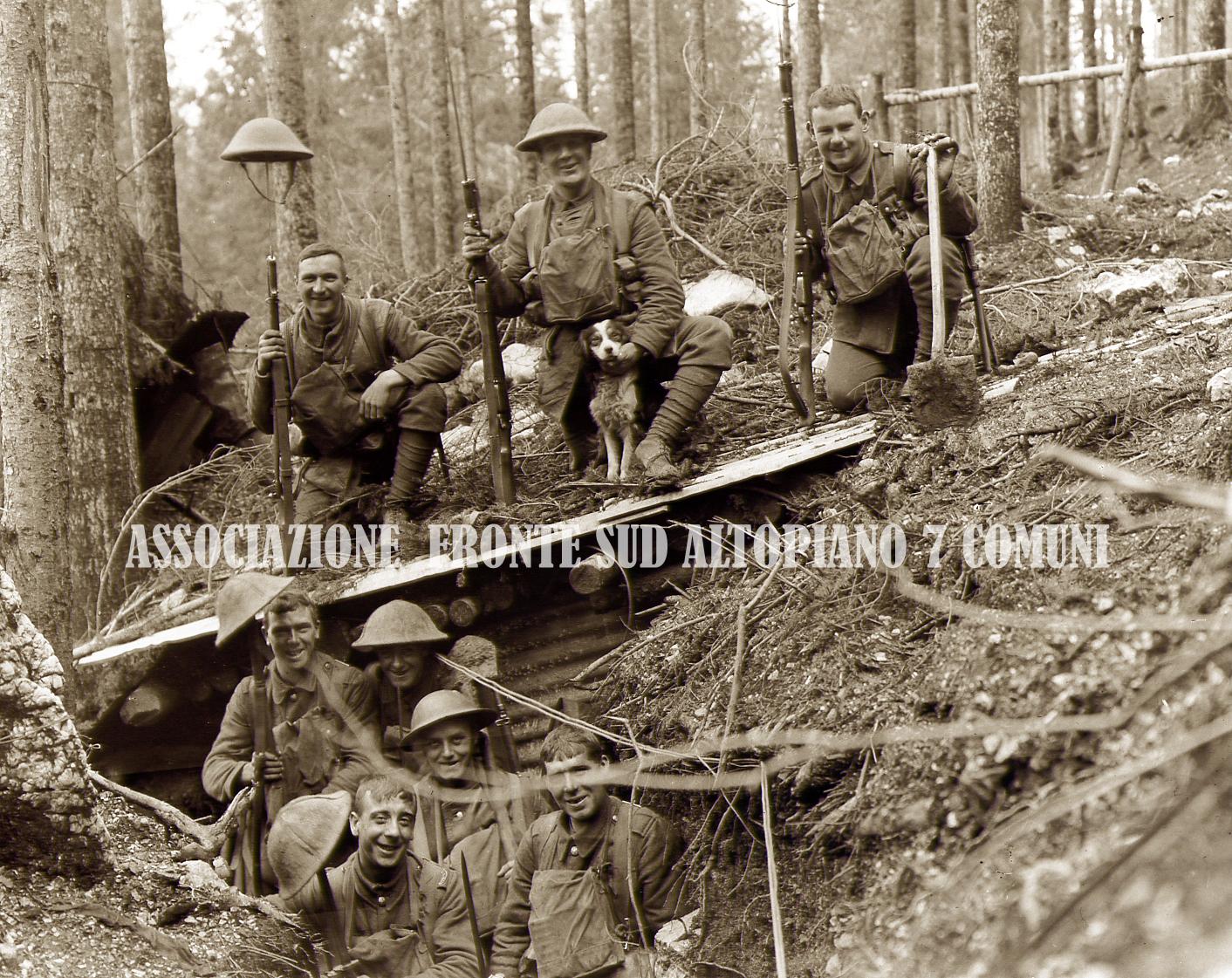 05a - Soldati inglesi in trincea tra gli abeti copia.jpg