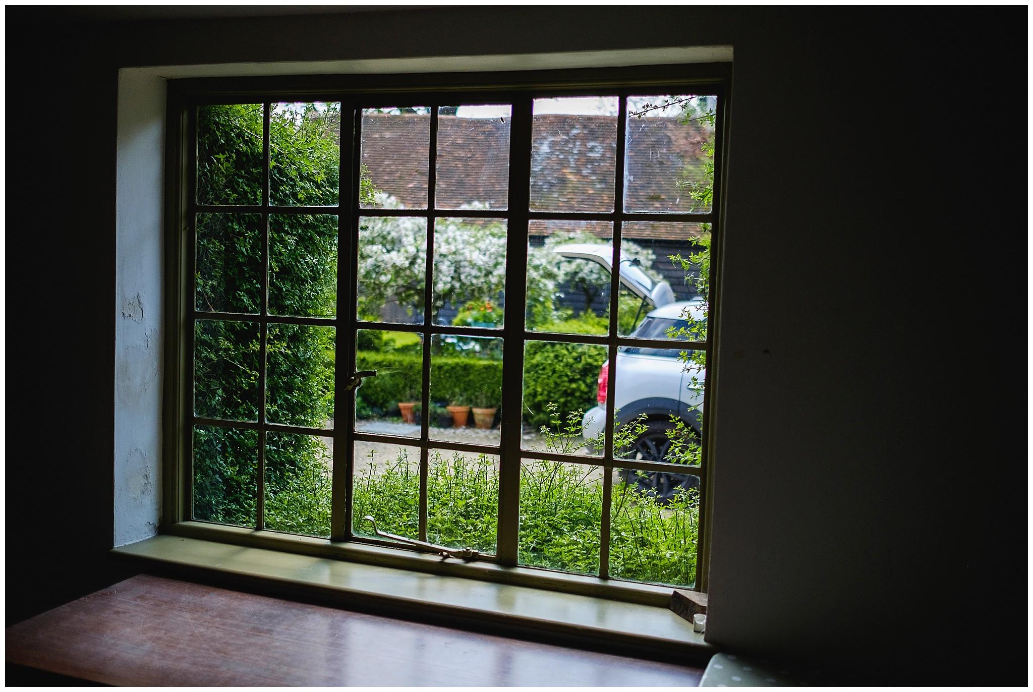 view through wedding window