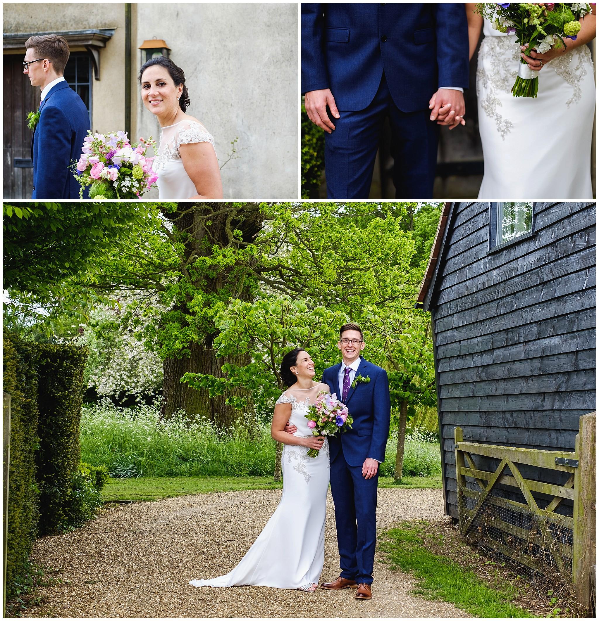 Wedding couple candid portraits