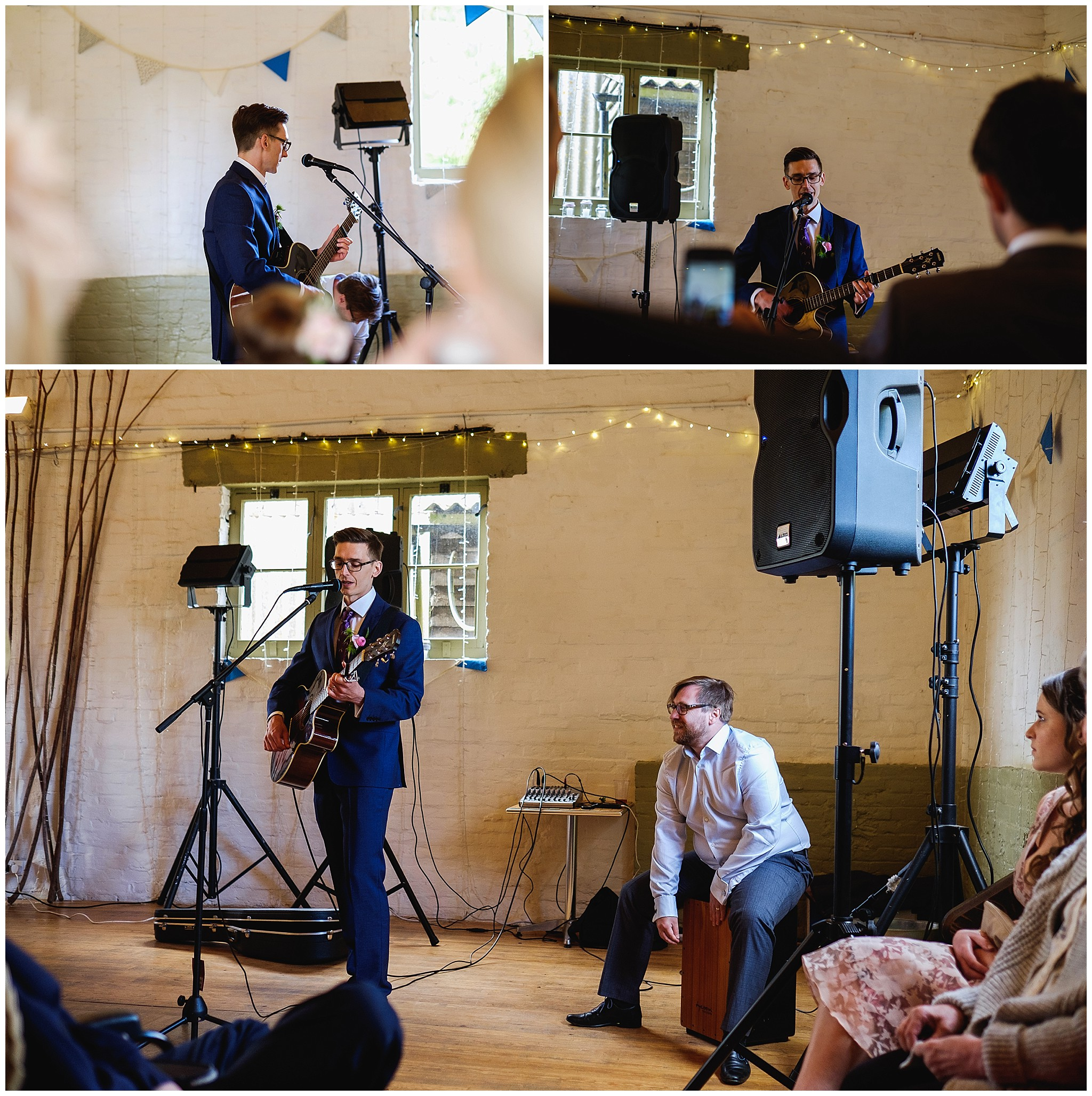 Groom serenade Bride on acoustic guitar