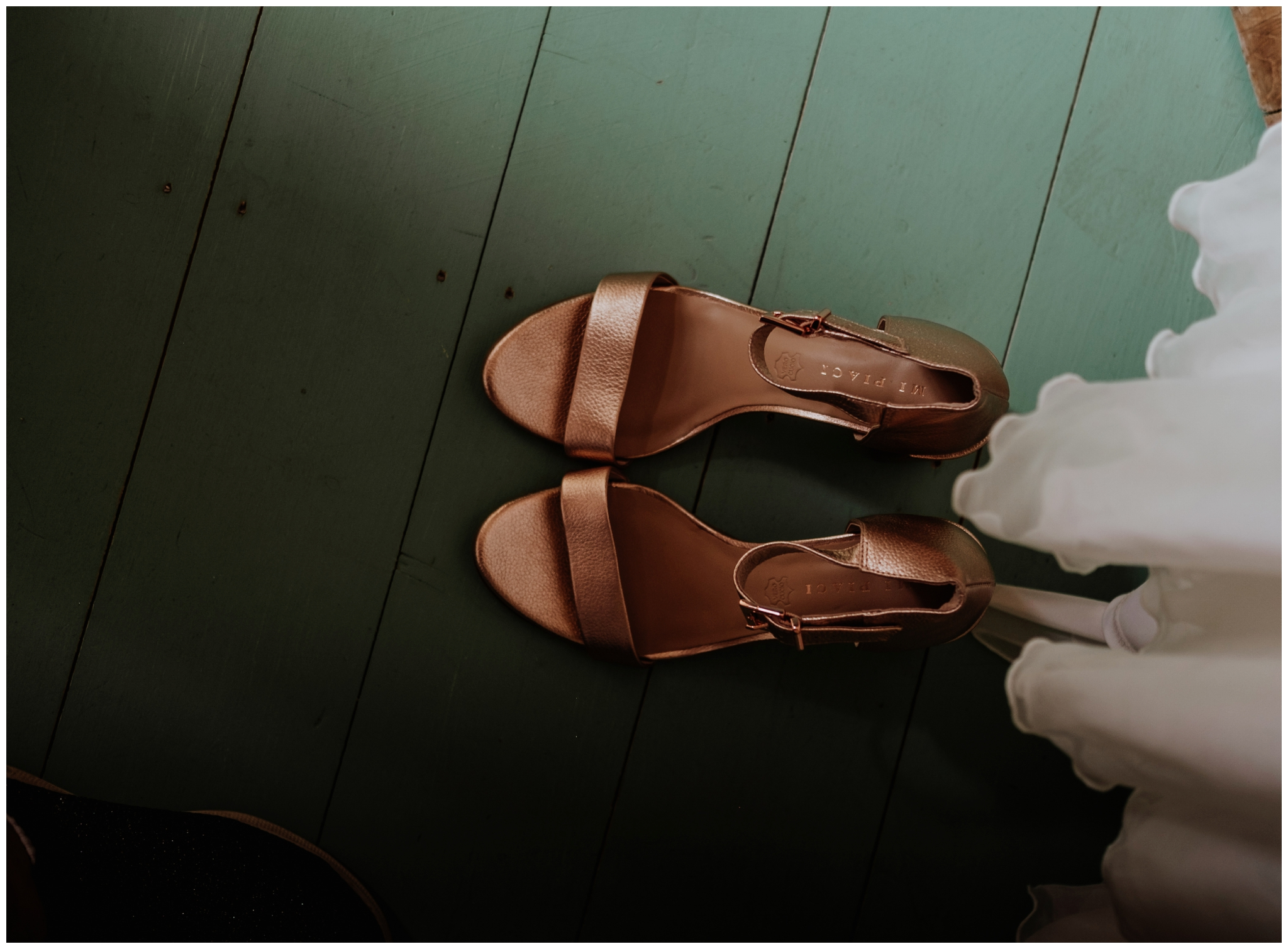 wedding shoes Cheshire Barn Wedding