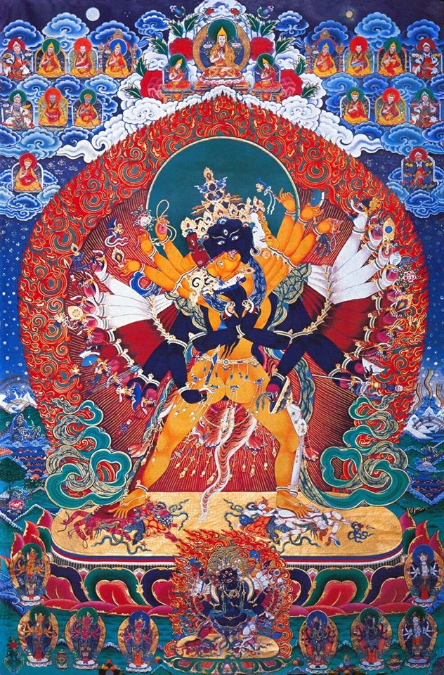 The Union of Wisdom and Method—Kalacakra and his Consort.