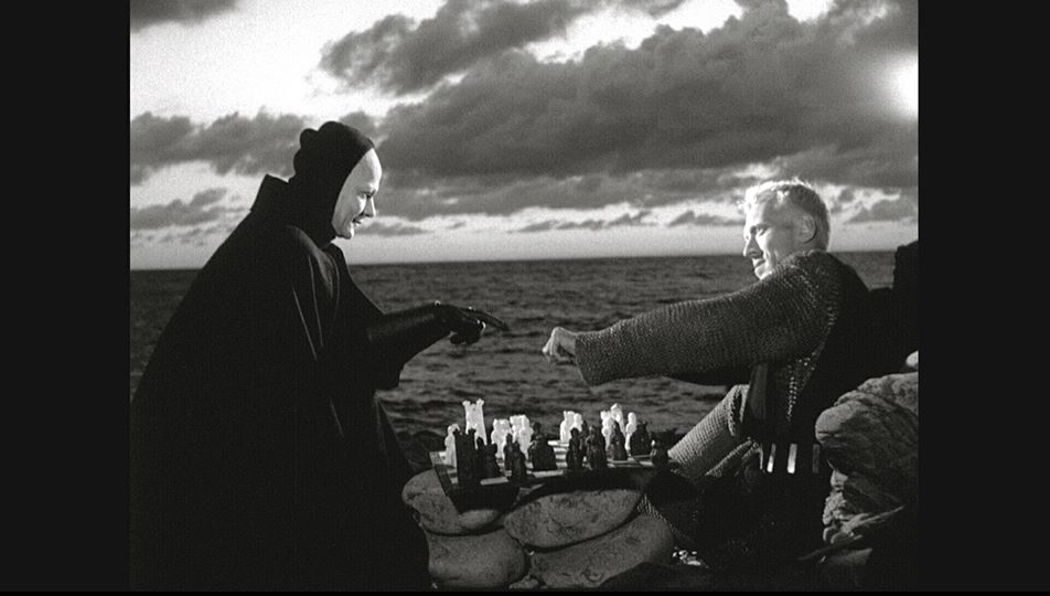 "Still from Ingmar Bergman's ""Det sjunde inseglet"" (The Seventh Seal), 1957."