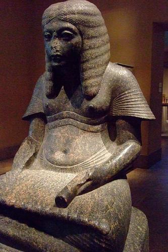 The PharaohHoremhabas scribe, bearing the  Hymn to Thoth  on his knees. New Kingdom, 18th Dynasty (c. 1323–1295 BCE). Metropolitan Museum of Art, New York City.