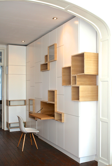 © Design Filip Janssens - Custom made desk cabinet ANTWERP 2008
