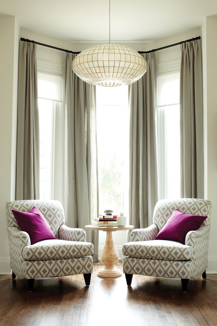 Inspiration Bay Window Curtains Welcome Splendor Styling Interiors Washington Dc Md Va