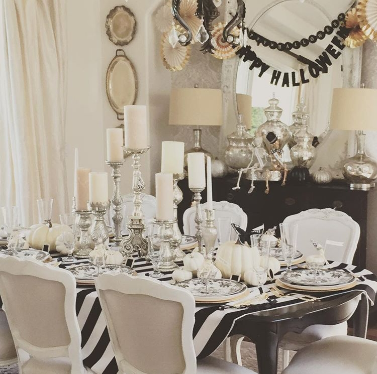 Black & White Halloween decor by  Randy Garrett Design