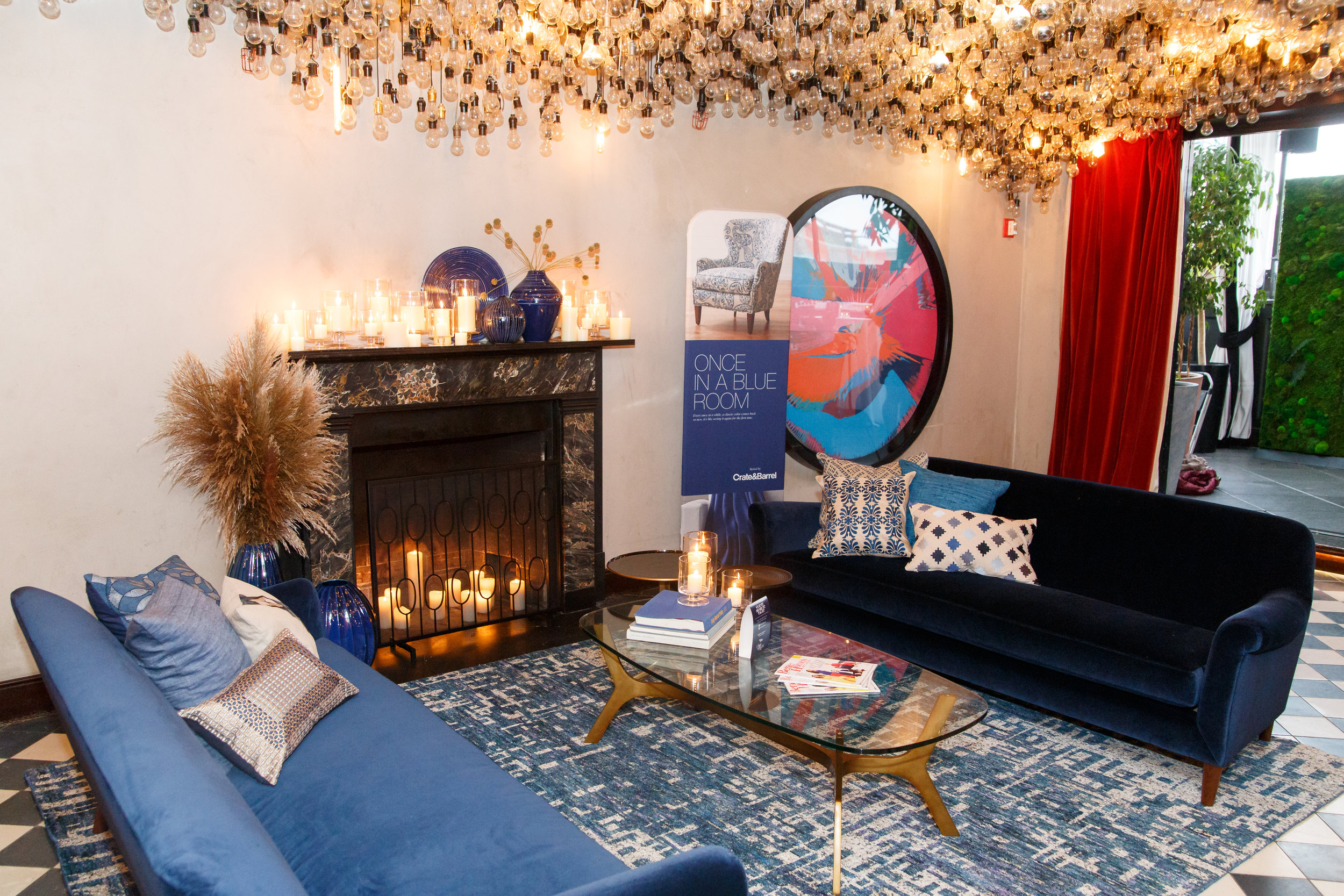 Awesome decor in blues by @crate&barrel