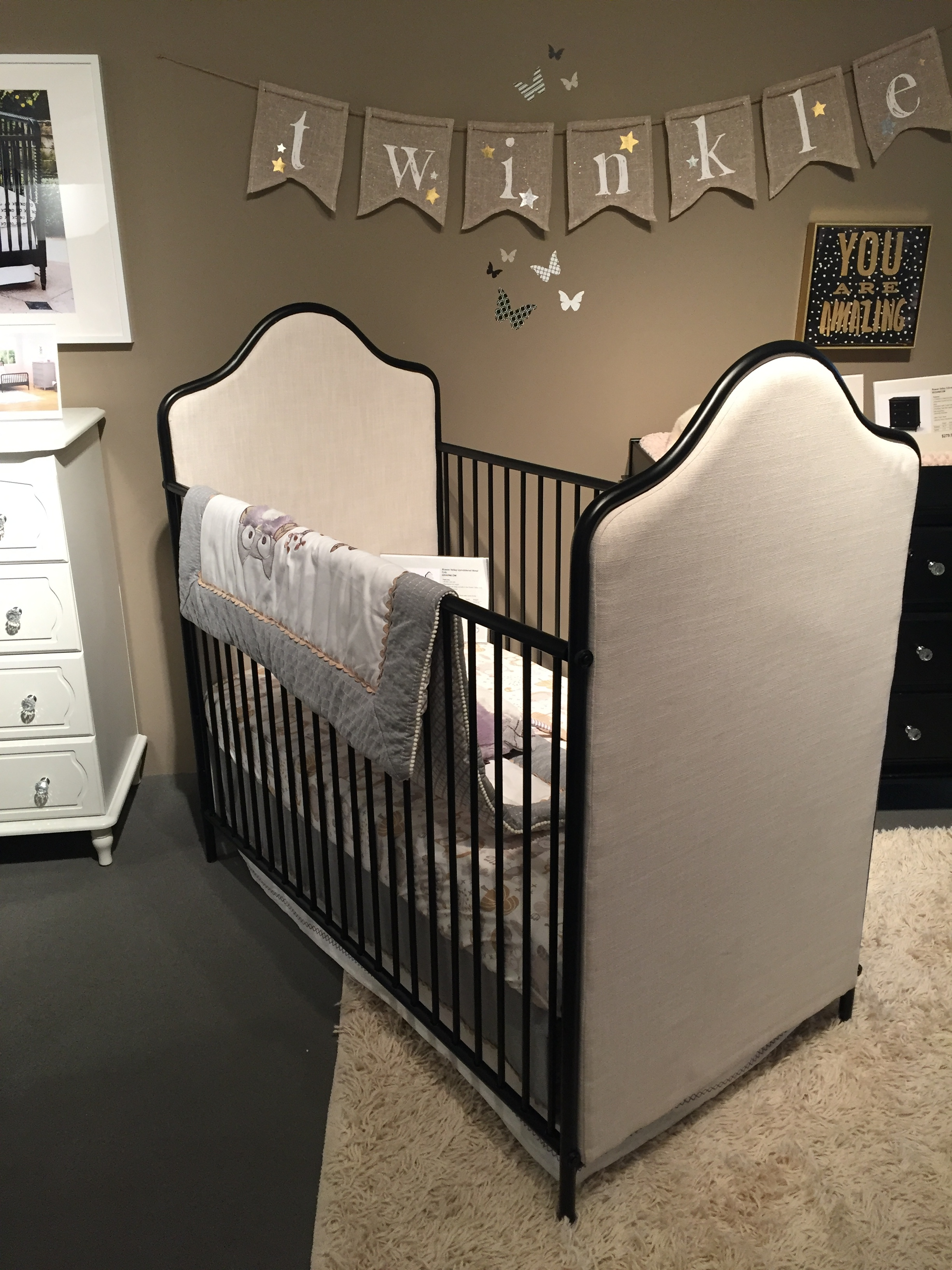 Love this simple and chic design for a crib at  Ameriwood Furniture . Isn't it gorg?