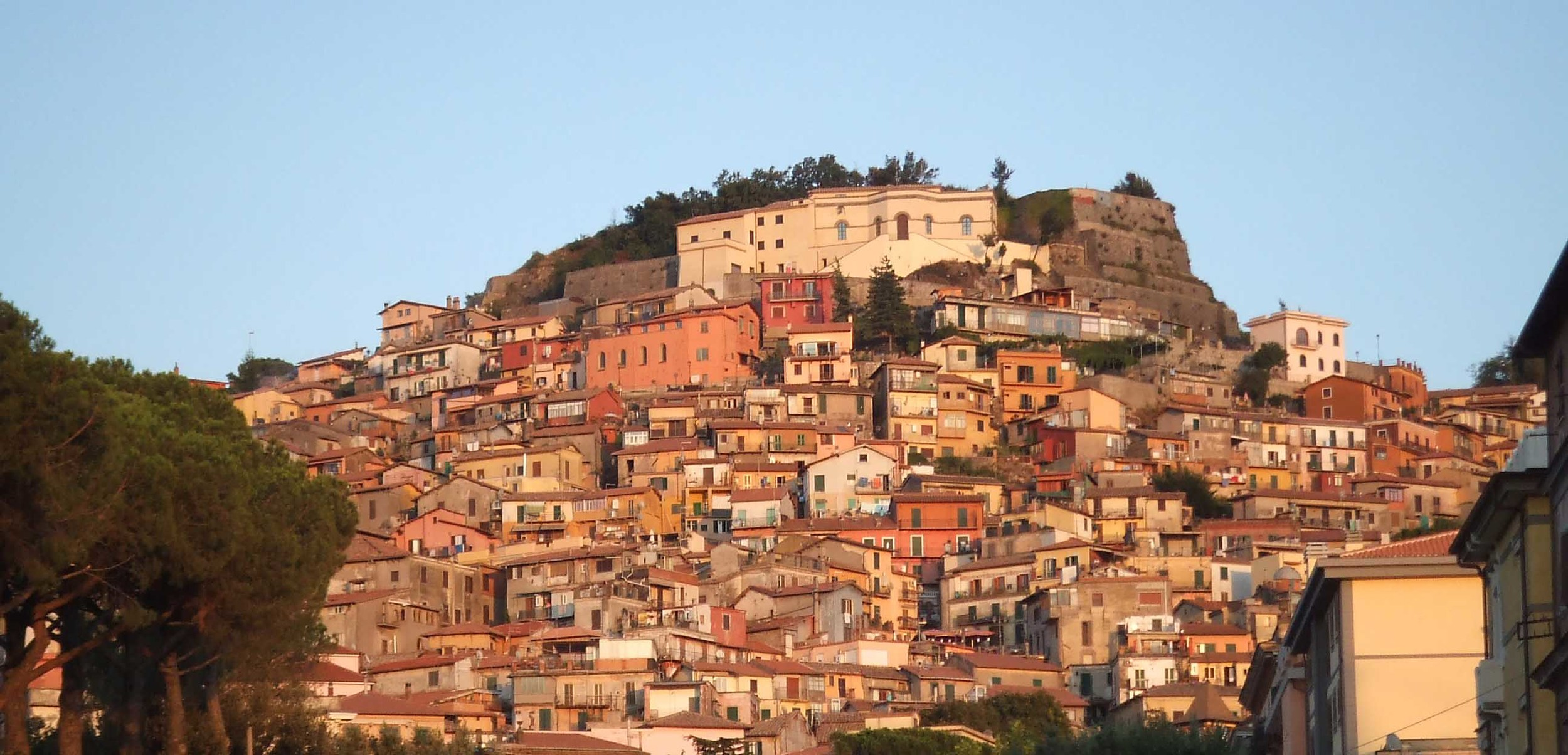 ROCCA DI PAPA   This village has the highest altitude in the mountains and is beautiful placed on the side of the mountain. On the summit you find Campo di Hannibal - it was here Hannibal had his elephants during the Roman Empire.