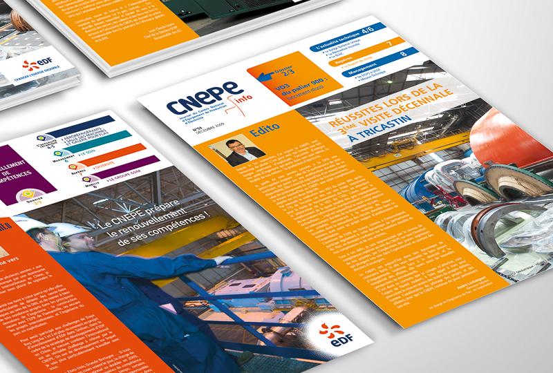 ➔Notre mission  Conception d'un magazine 8pages trimestriel et définition d'une chartegraphique, rédaction, mise en page etroutage.