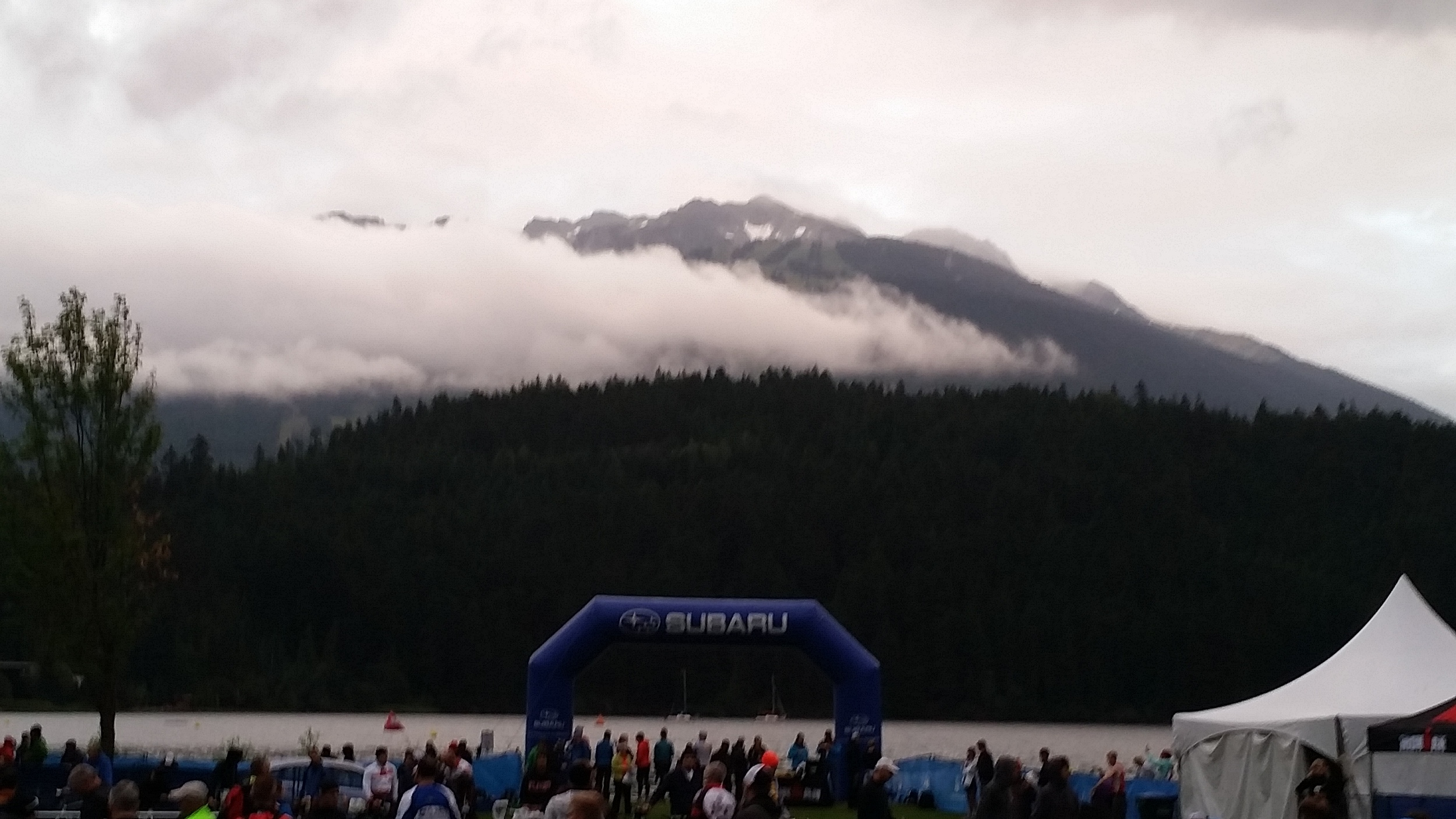 The swim start just before the rain rolled in….