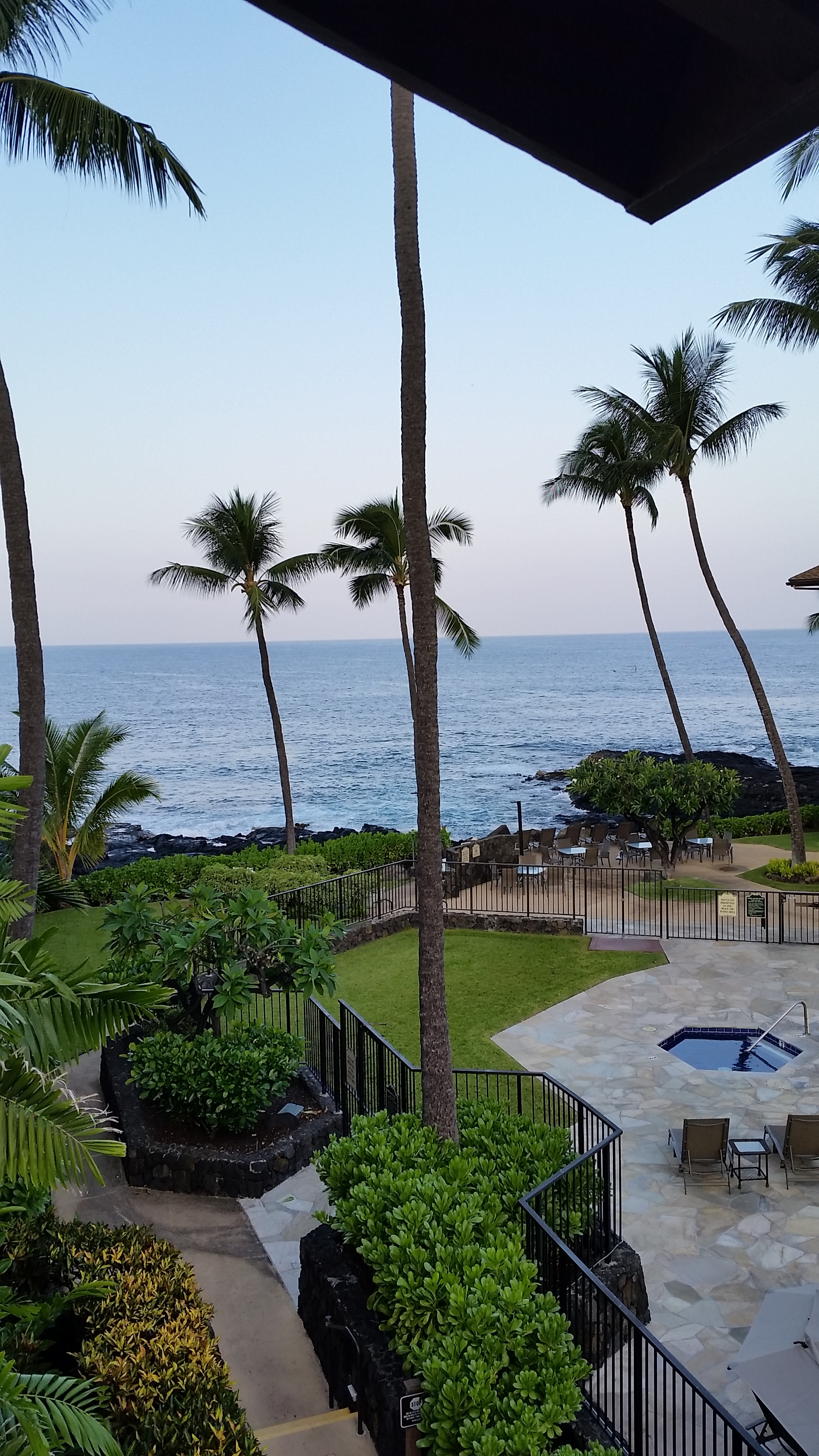 Our condo we rented was somewhat unassuming from the road, but the inside grounds and the view of the ocean were pretty fantastic.