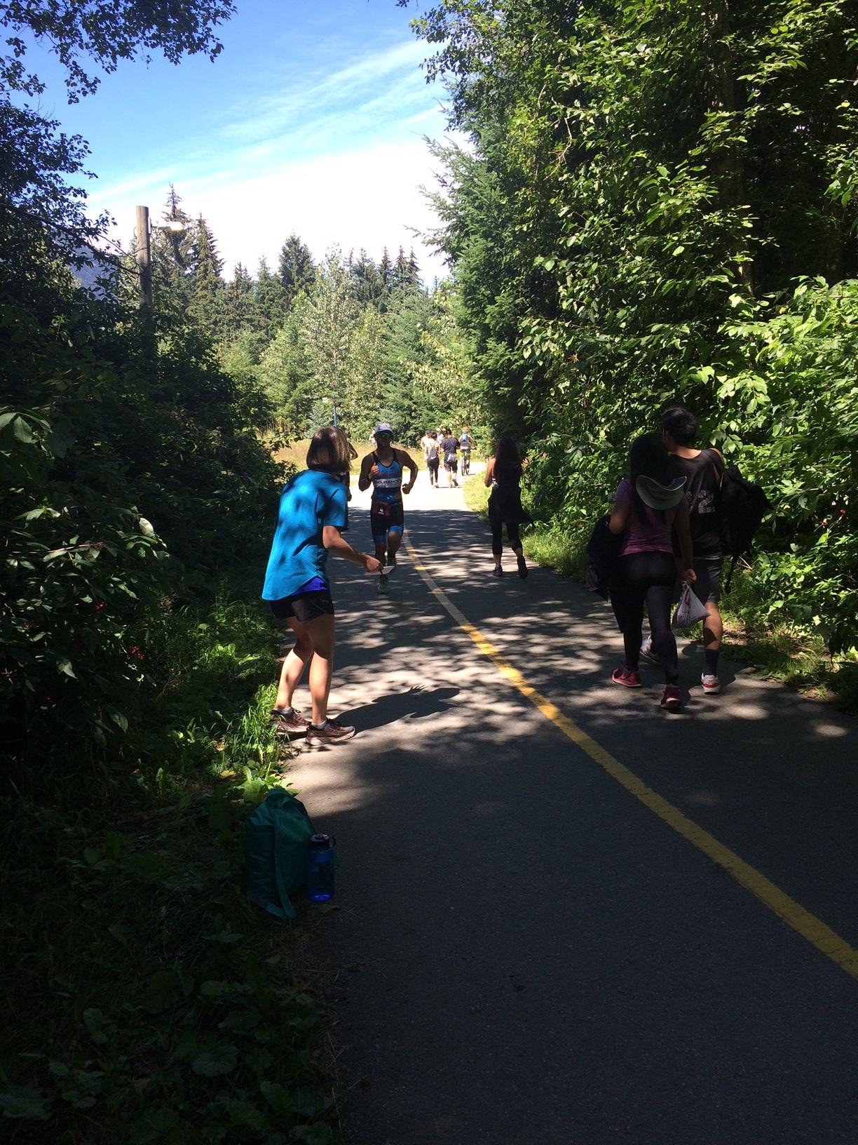 About 1-2K into the marathon.