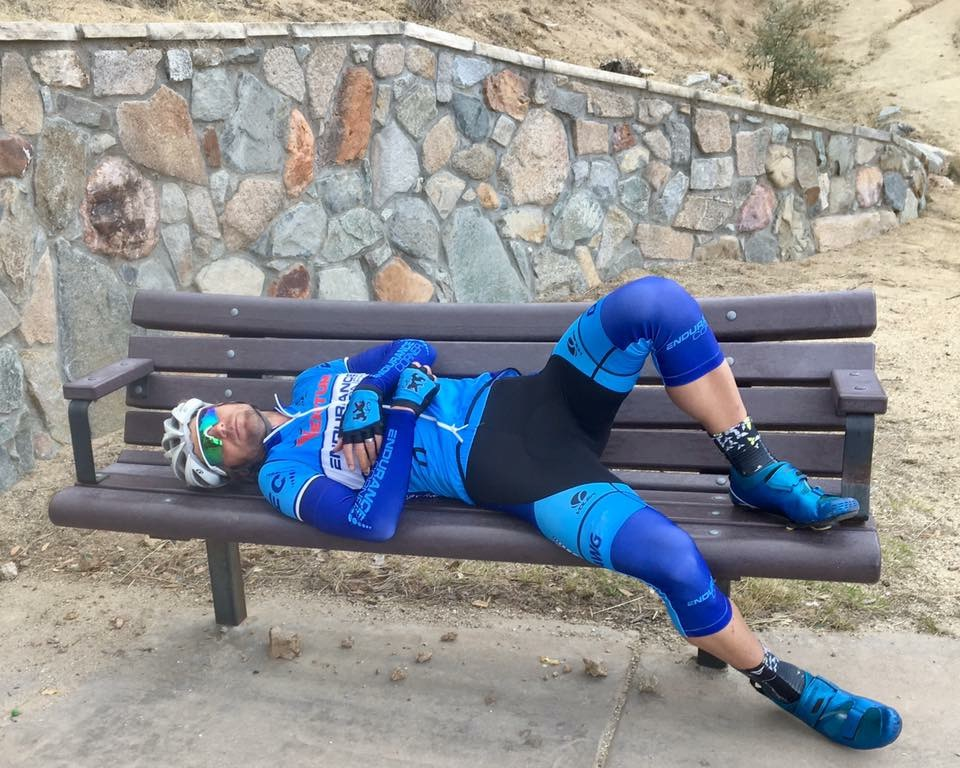 "Resting on the ""pop tart"" bench in Madera Canyon. Photo: Jeff Fejfar"