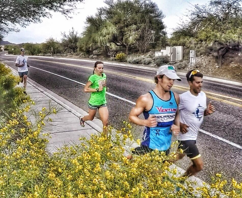 Running up Starr Pass. Photo: Lisa Roberts