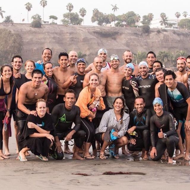 After morning training in Peru. Photo: Roberto Zamalloa
