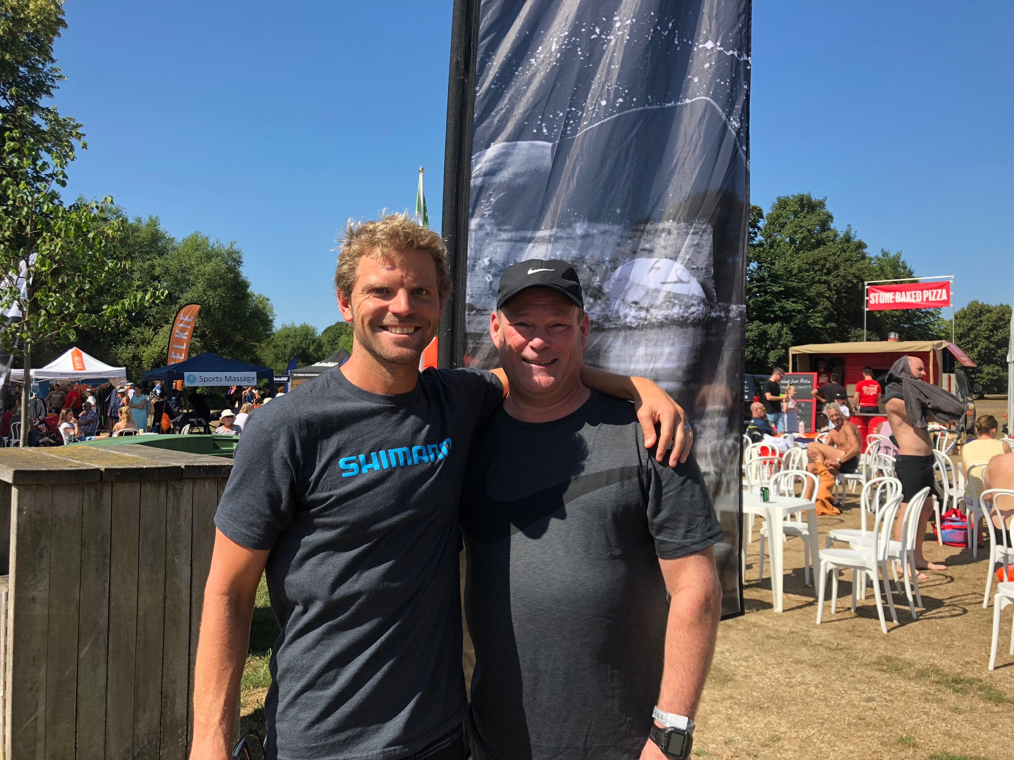 Larry and I at the finish.
