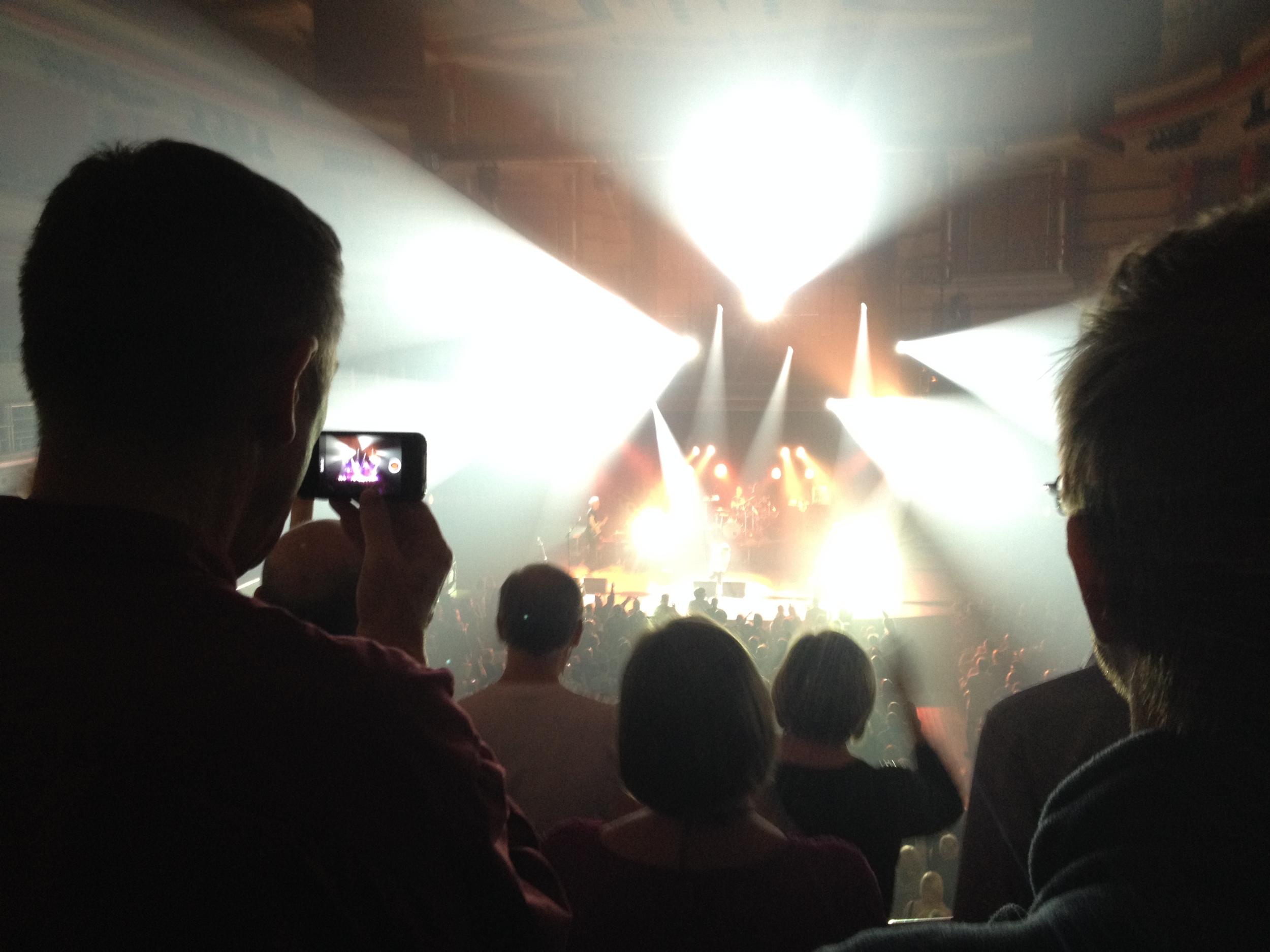 Watching Deacon Blue, Symphony Hall, Birmingham.