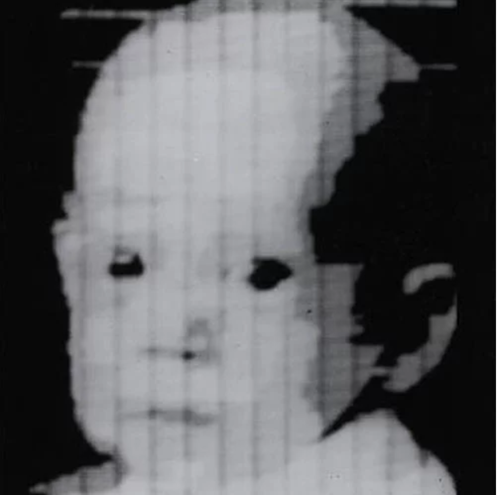 Digital scanned image of Russell Kirsch's son, Walden, in 1957.