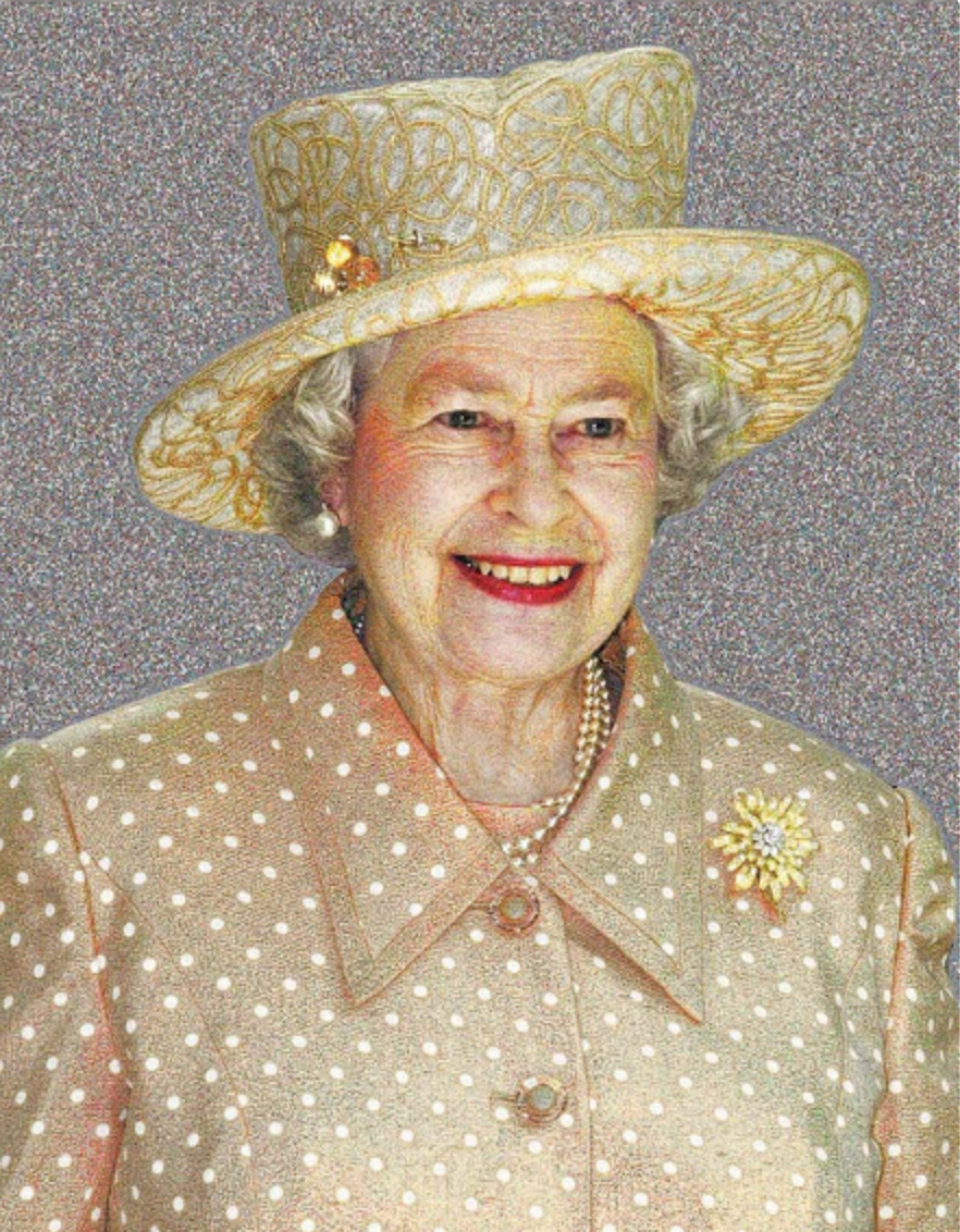 Photo mozaic of Queen Elizabeth II. http://www.mazaika.com/33_gigapixel_photo_mosaic_face_britain.html