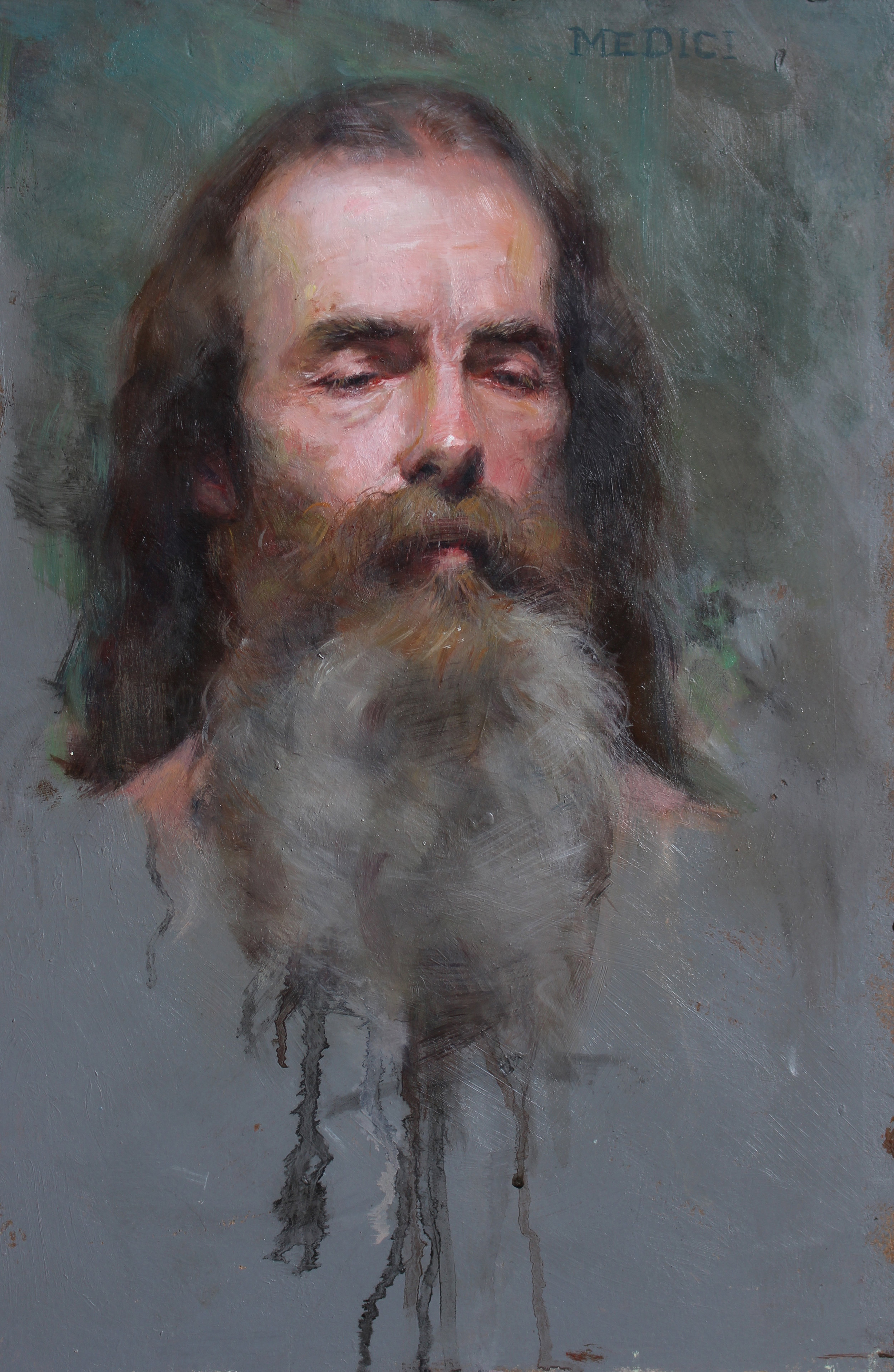 Pat  Oil on Panel, 15 x 10 inches