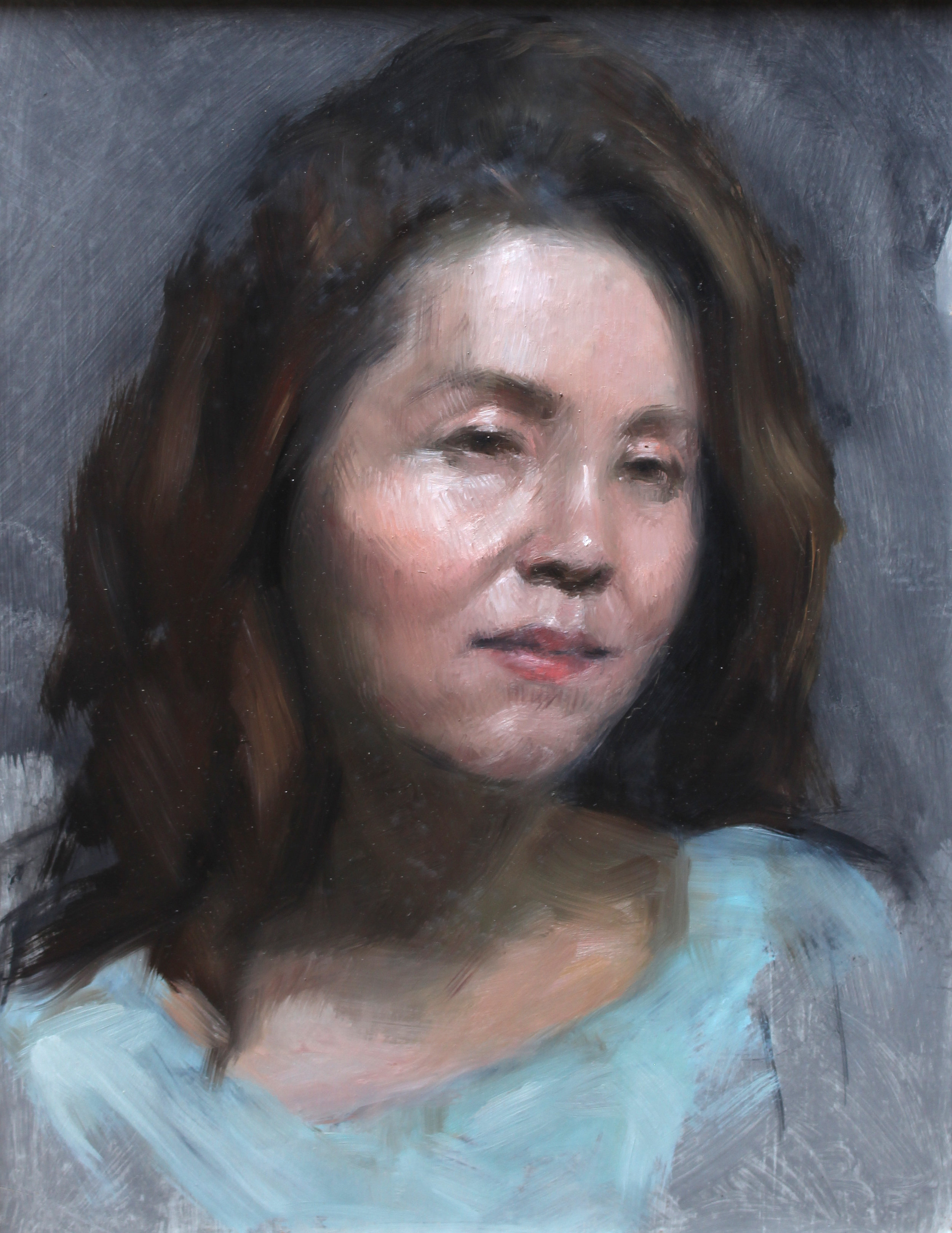 Kim  Oil on panel, 14 x 11 inches