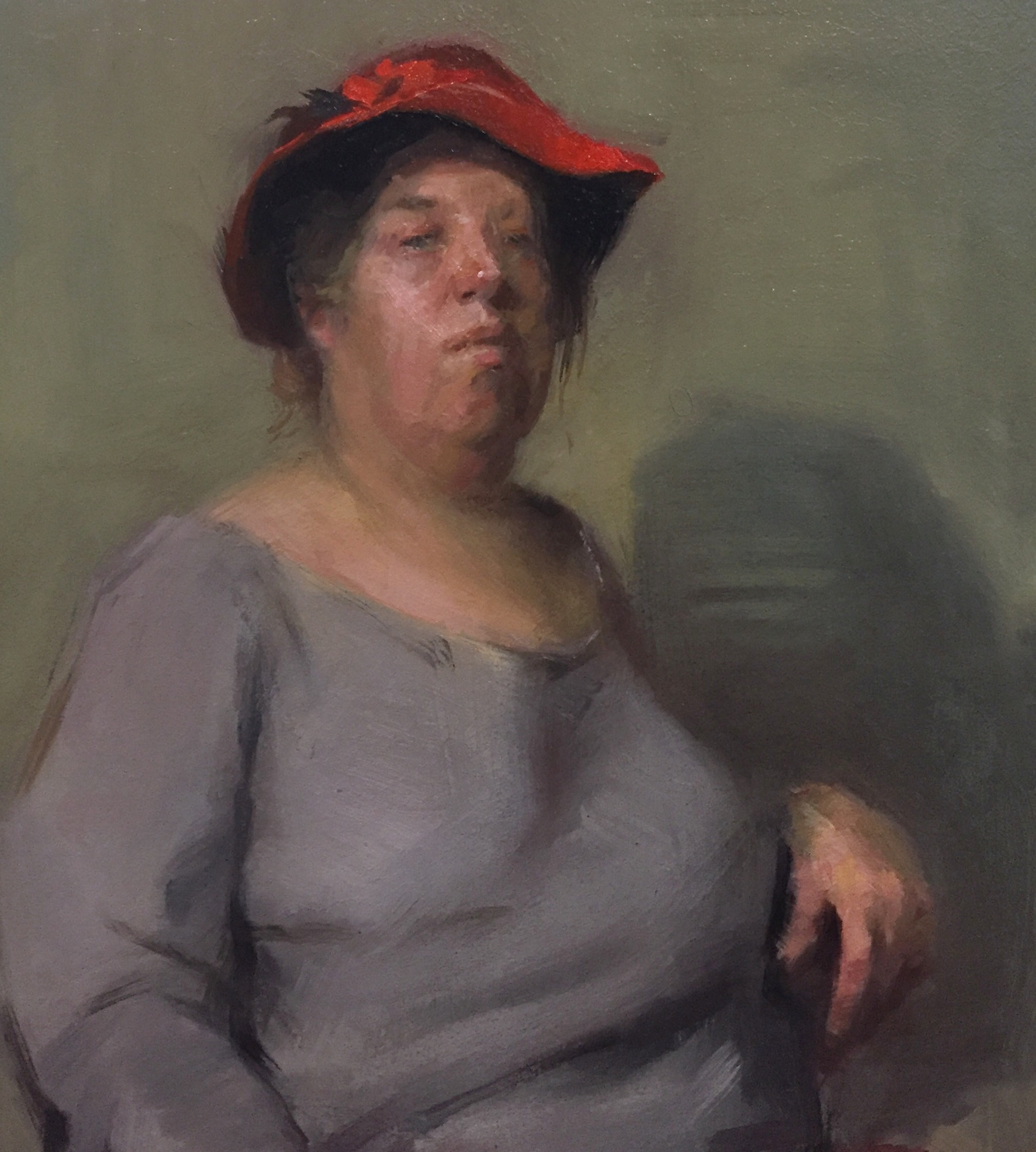Betty   Oil on panel  , 14  x 11  inches    -Sold-