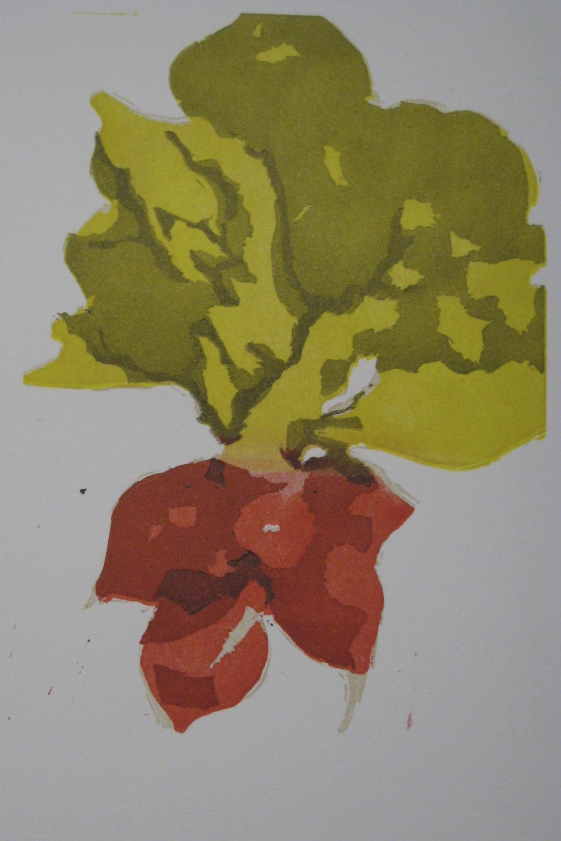 Radish Linocut