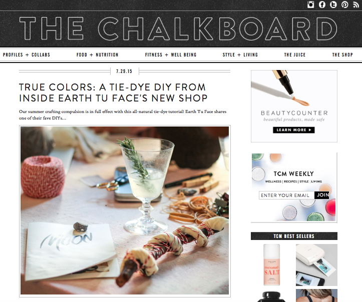 THE CHALKBOARD MAG, JULY 2015