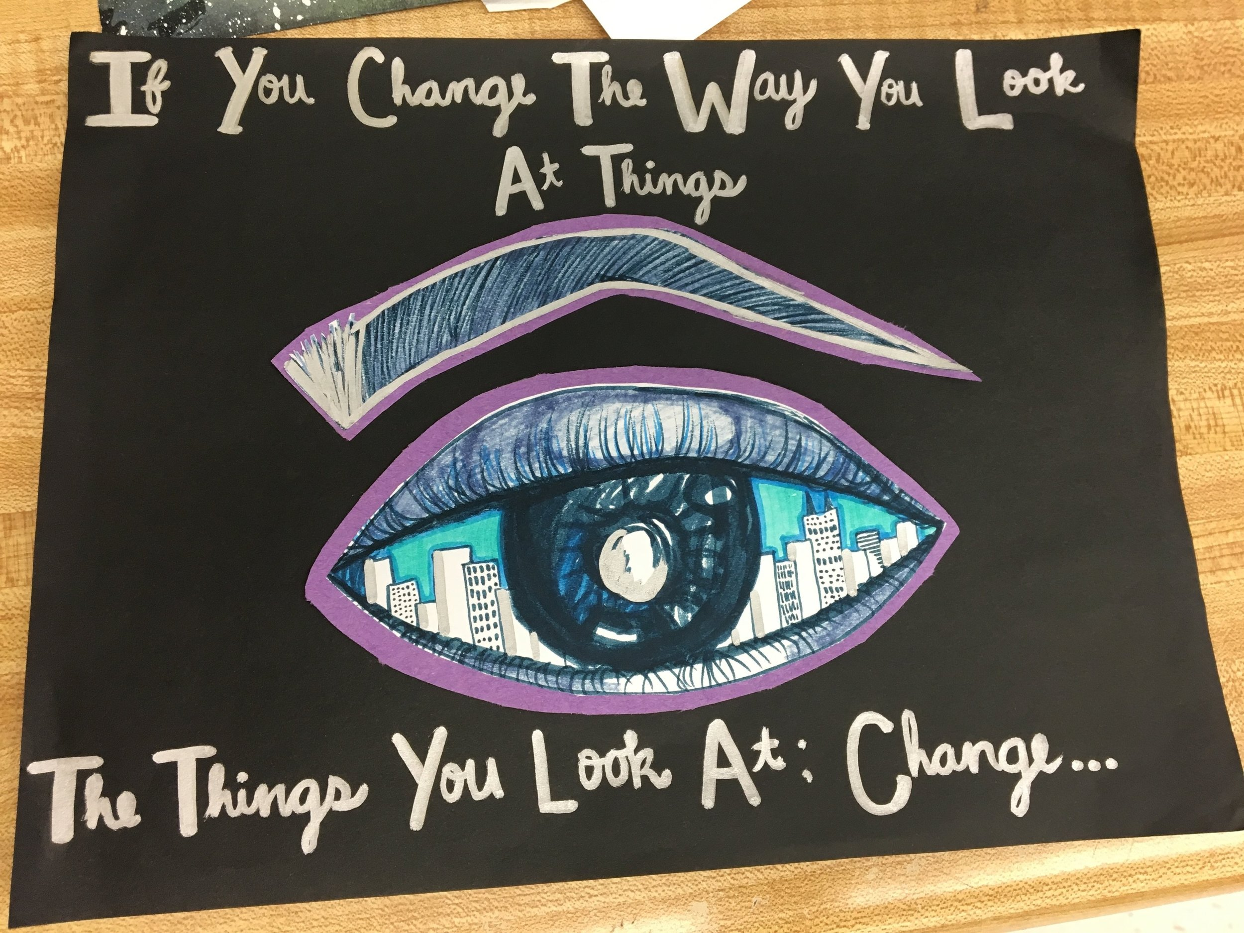 Students craft imagery drawing inspiration from text.