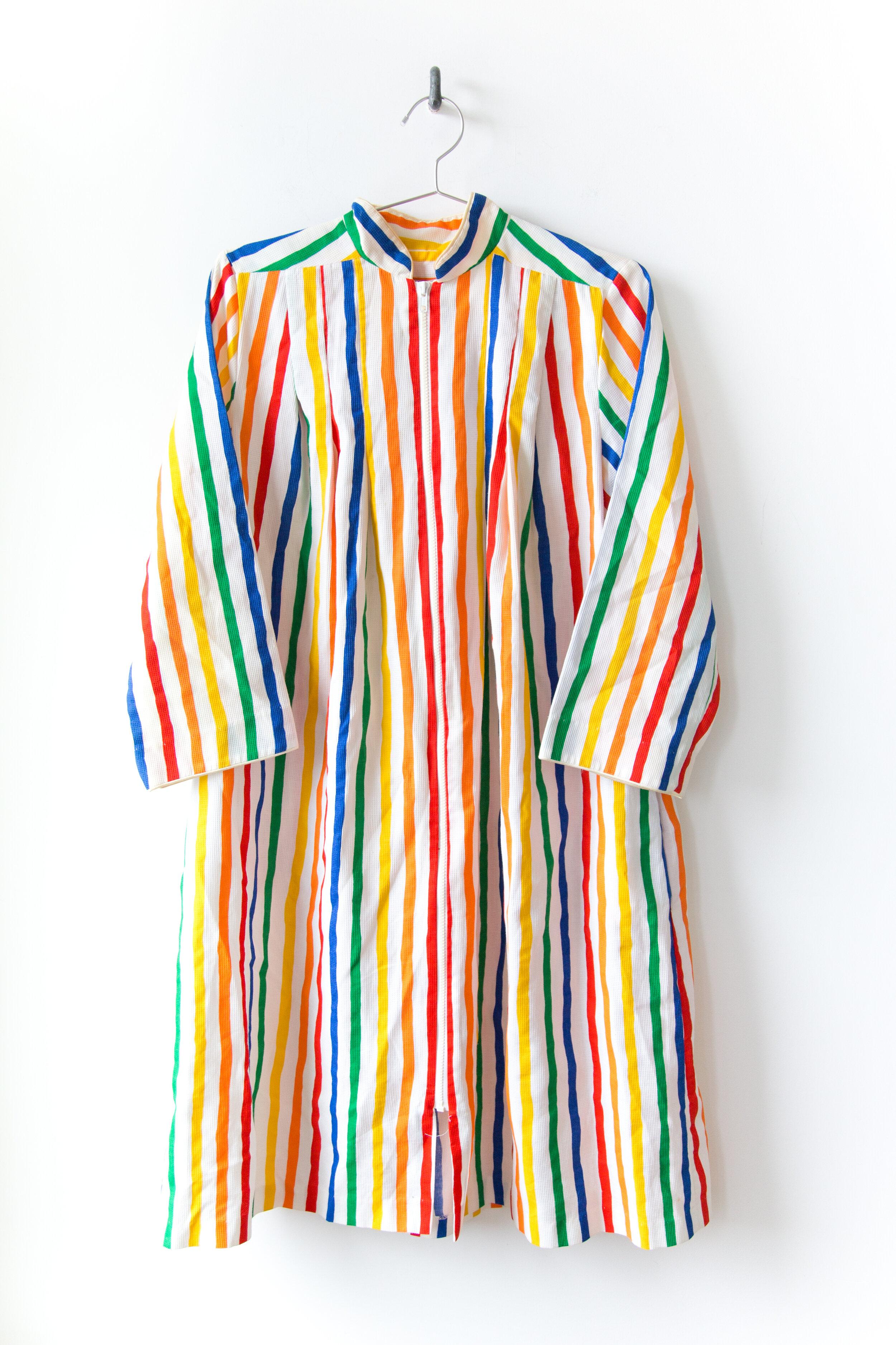 70 S Rainbow Robe Dress Coffee And Clothing