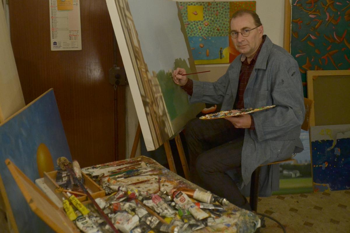 Alberto Repetti in his Studio