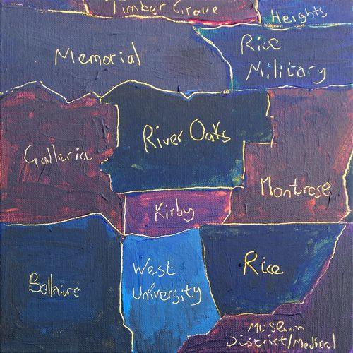 Houston District Rothko Map by Tim Bradford