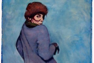 """Brian Burke's """"Portrait of Libby Oughton,"""" 1987, oil on canvas."""