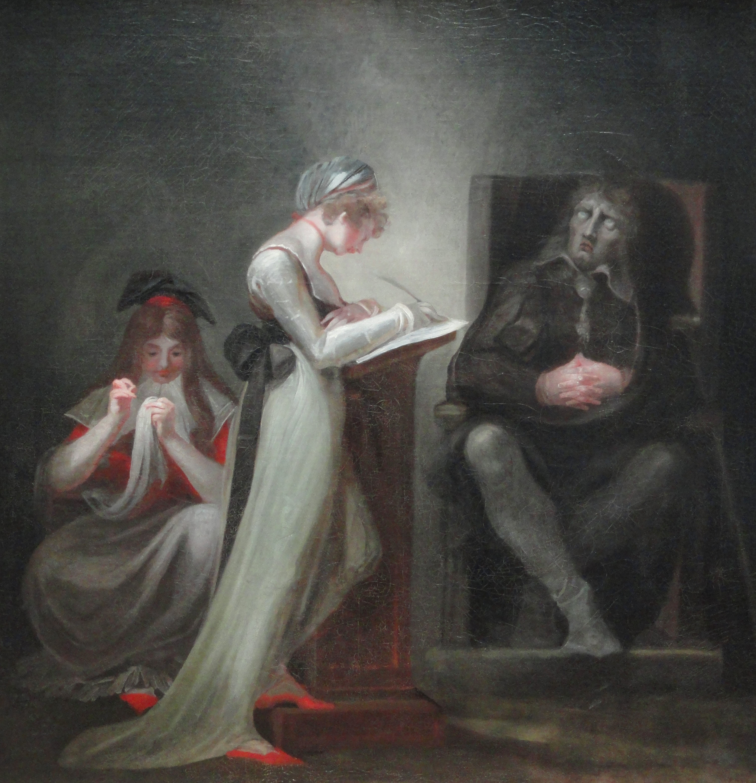 Henry Fuseli - Milton Dictating to His Daughter (1794)