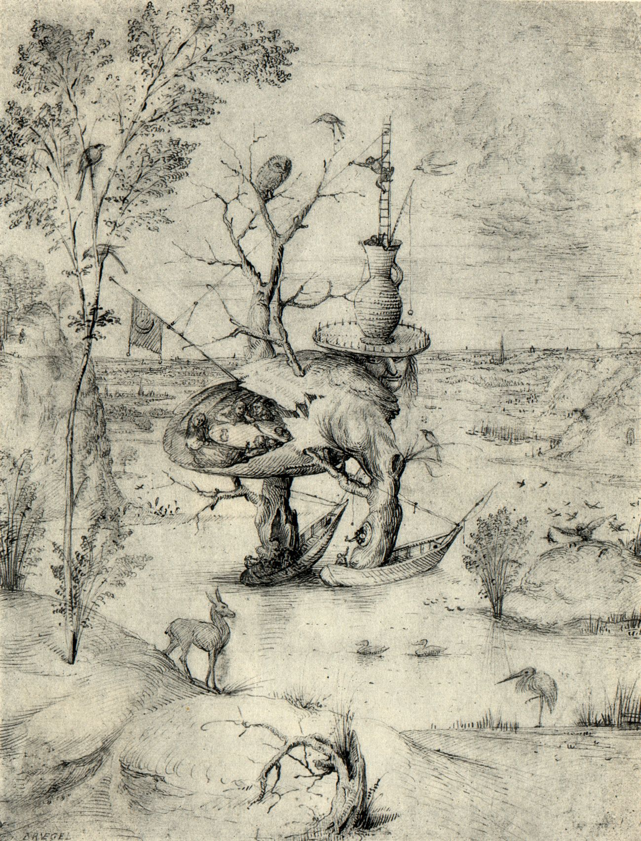 Bosch, The Man-Tree (1470)