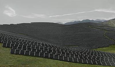Andreas Gursky, Les Mées, 2016