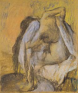 Edgar Degas, The Tub, Woman Drying Herself, 1889