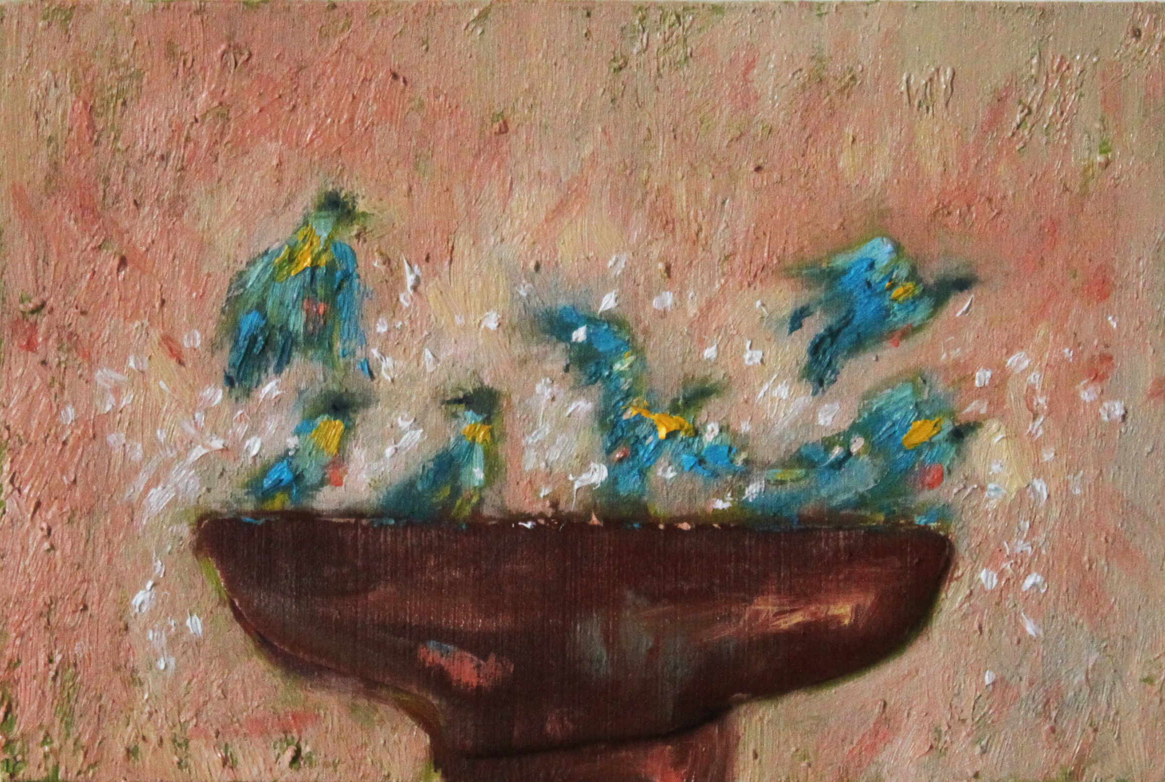 GUIDO SALIMBENI, Bird In The Water Pond