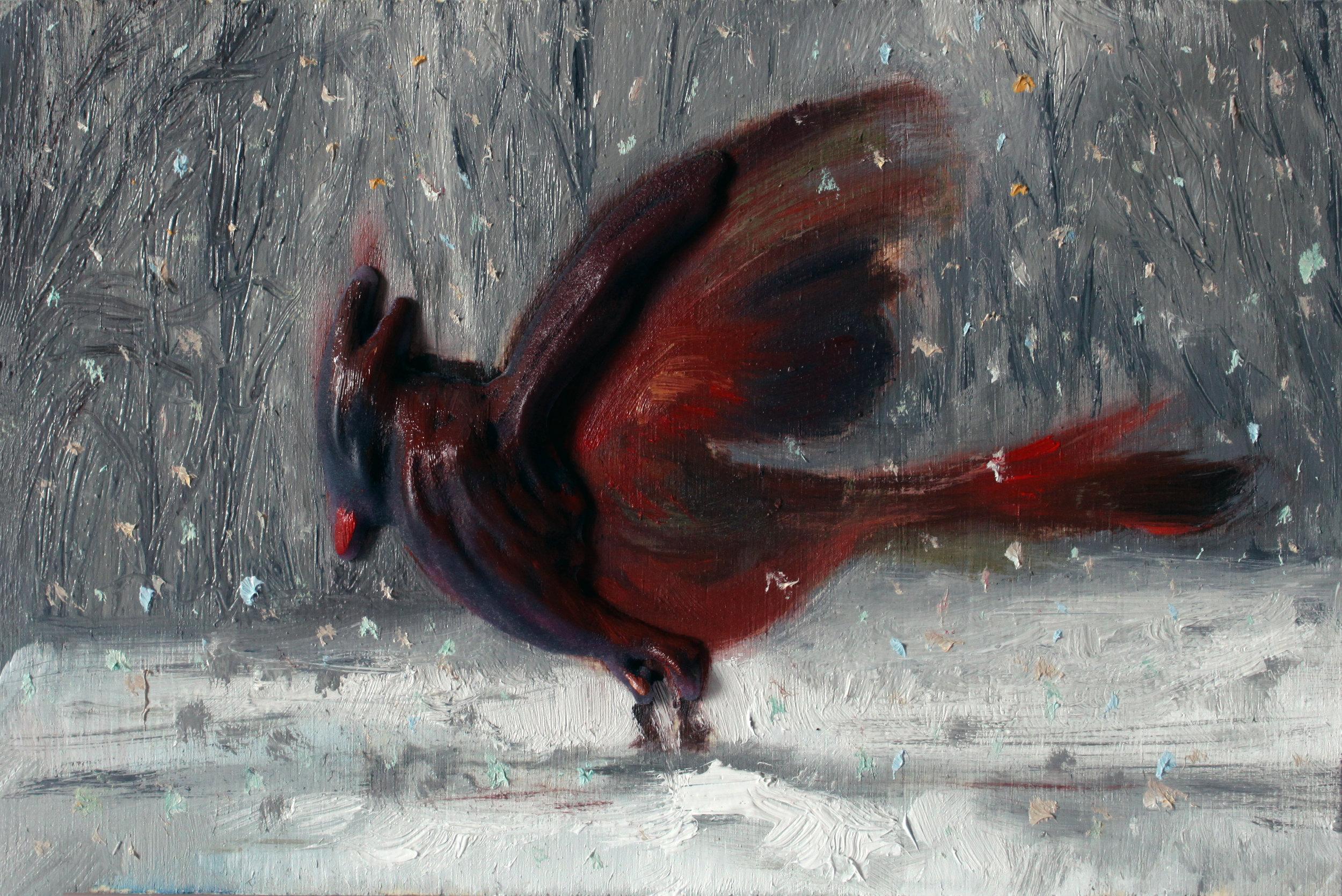 GUIDO SALIMBENI, Red Cardinal in the Snow