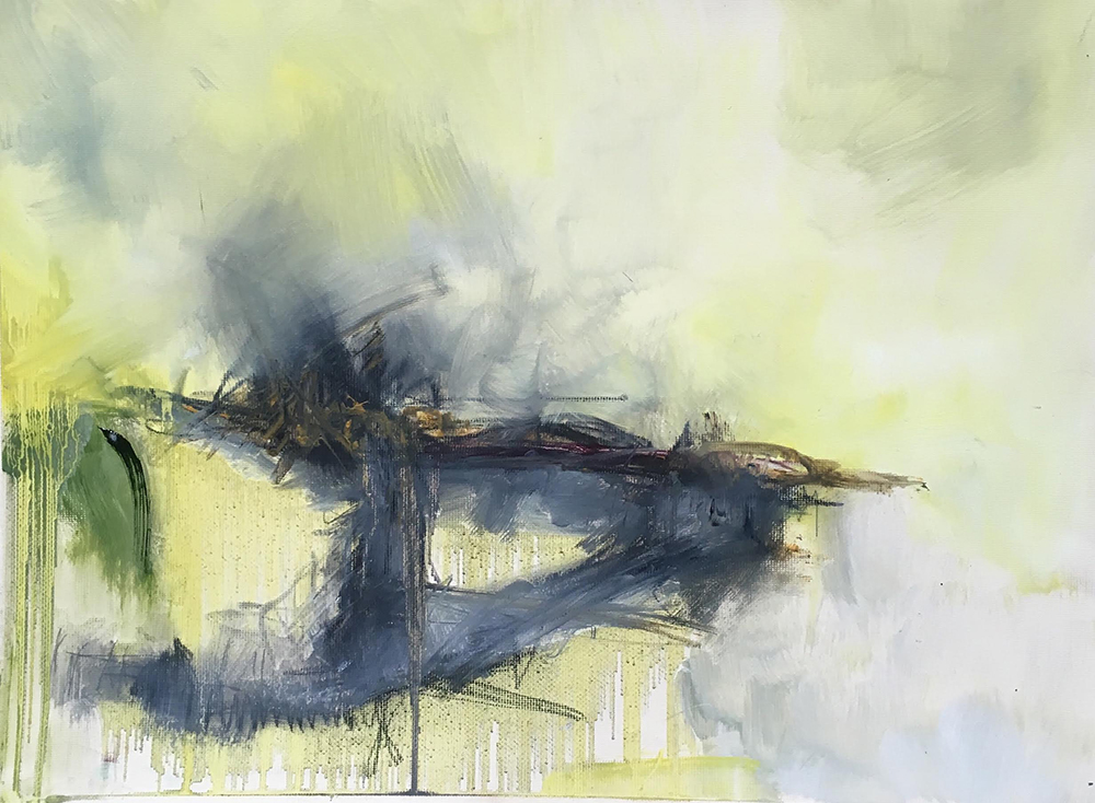 £755. Oil on canvas. Undecided by Iaysha Salih