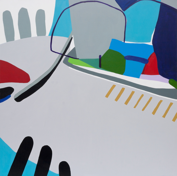 £1,100. Acrylic on canvas.  Corner by Kotaro Machiyama