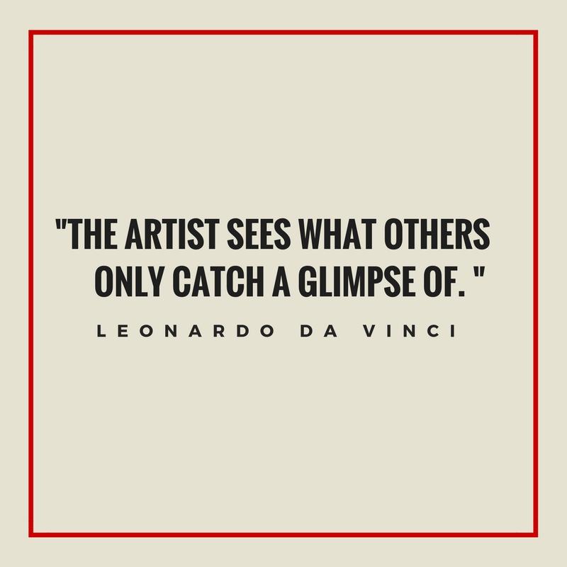 inspirational quote by Leonardo da Vinci