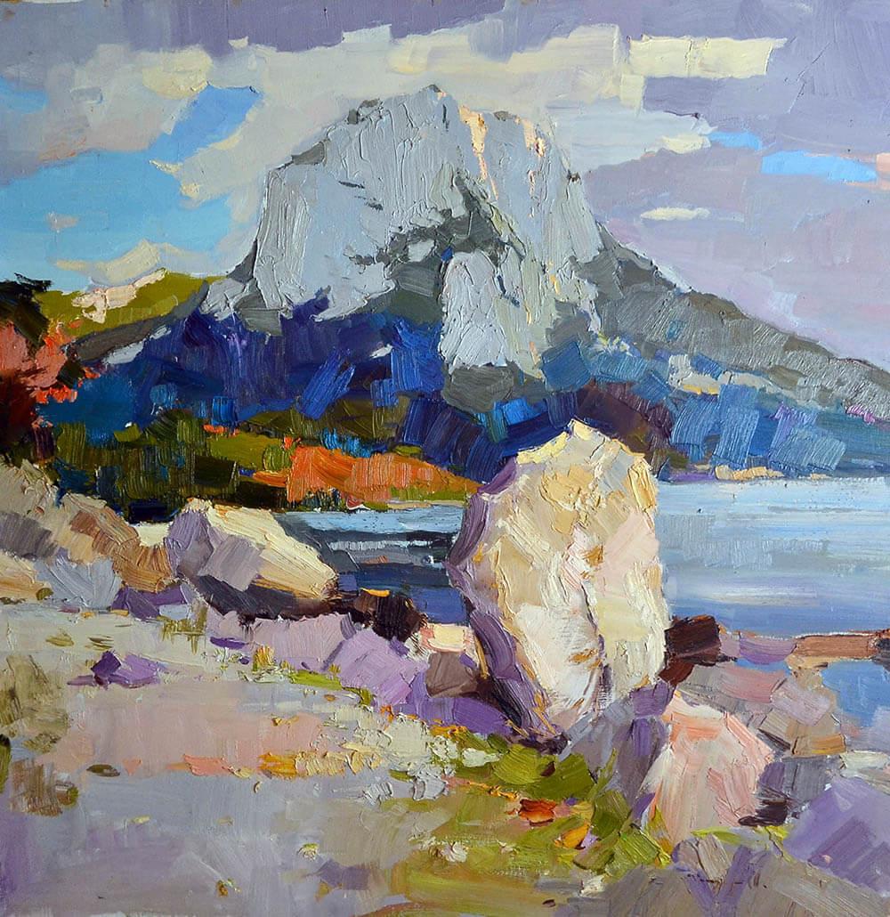 £2,900. Oil on canvas.  Stones  by Alexander Shandor