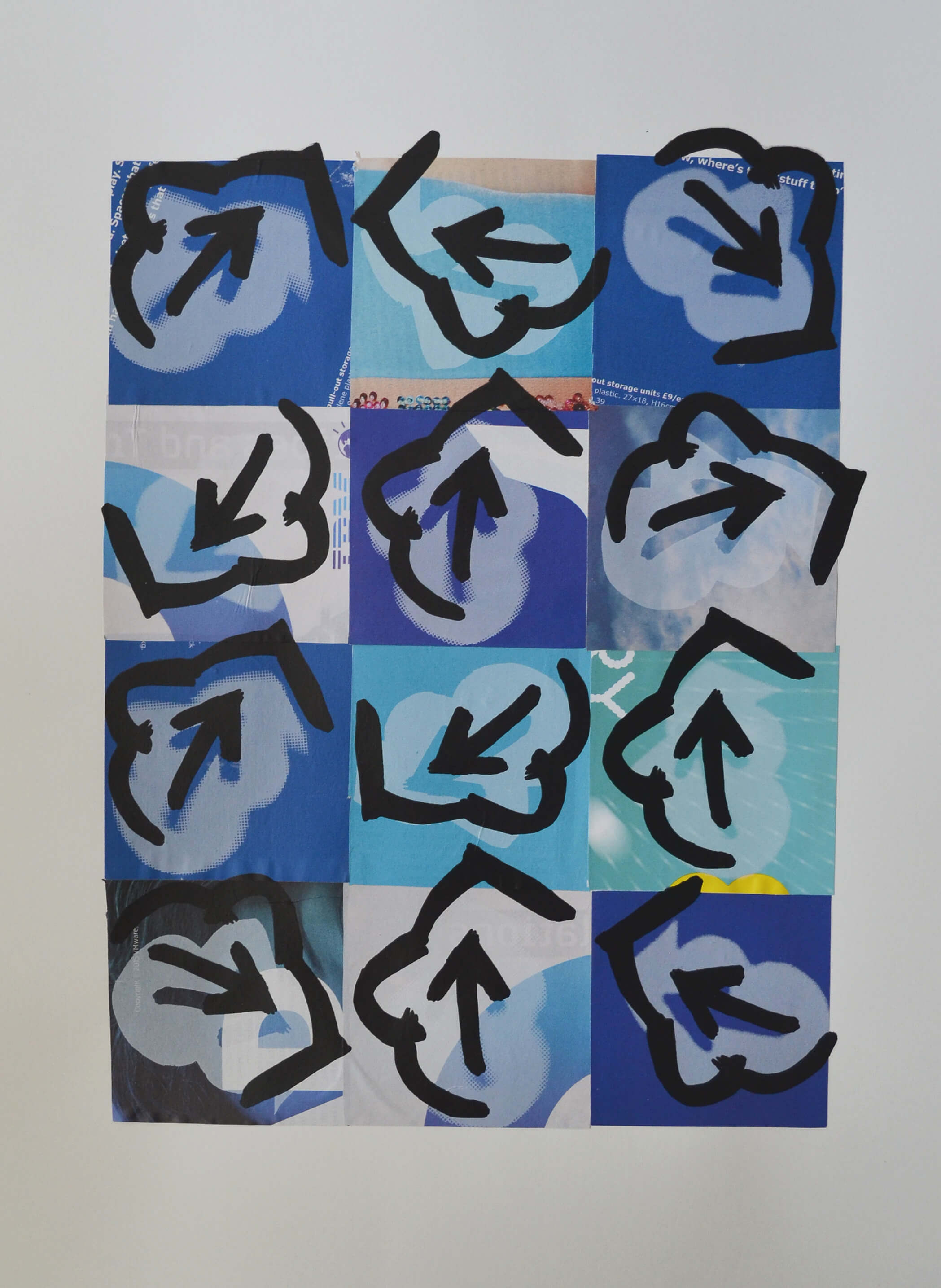 £375. Screen-print on collage   Default 15021 by PAUL ELMES,