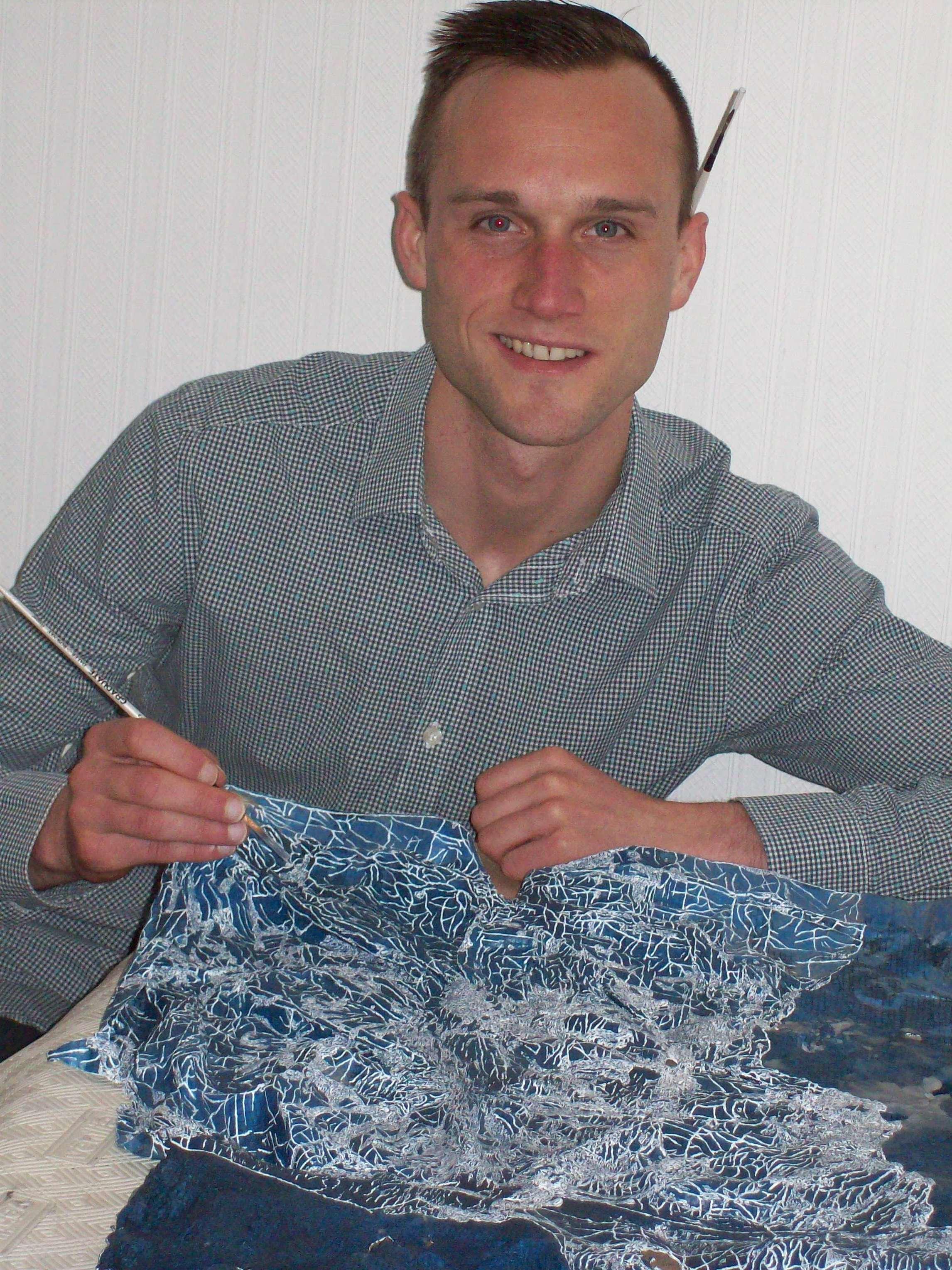 Chris Horner in his studio